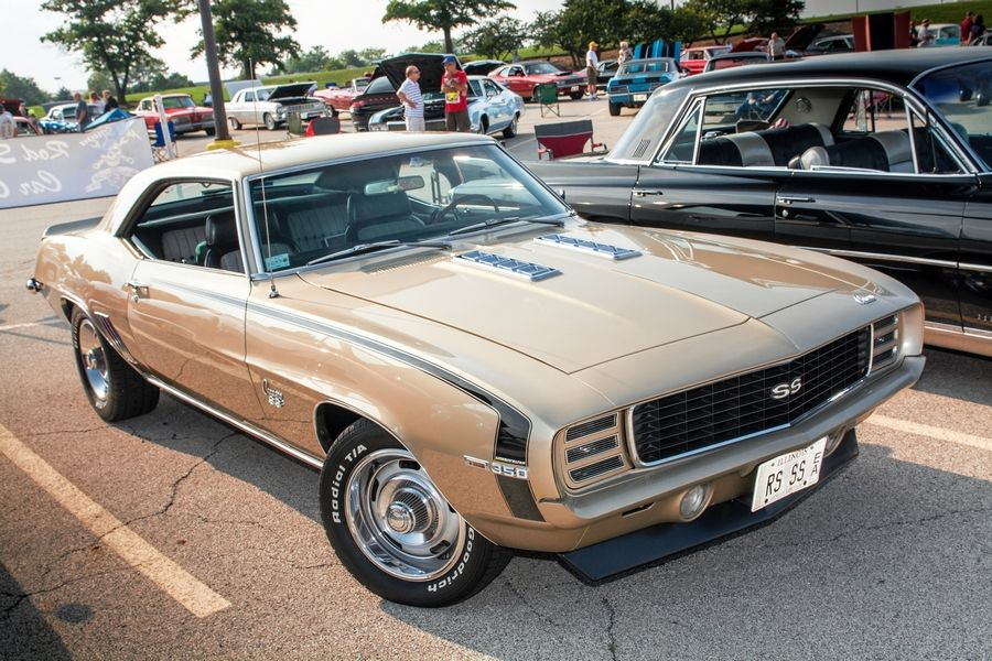 The Champagne color of Casey's 1969 Camaro turns as many heads as the car itself. Only one-half of 1 percent of the Camaros rolled out with the color that year.