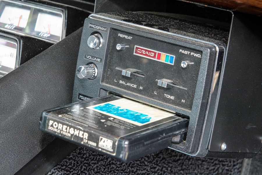 Casey says he loves the 8-track player, which blasts his favorite tunes on his frequent jaunts.