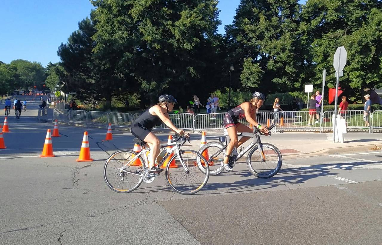 Roughly 2,000 triathletes will bike 13.6 miles on the streets south of downtown Naperville on Sunday morning during the 10th annual Naperville Sprint Triathlon.
