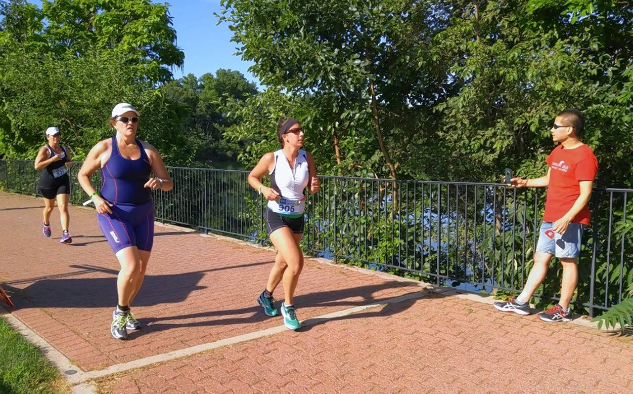 A run along the Riverwalk concludes the Naperville Sprint Triathlon, set to take place for the 10th time beginning at 7 a.m. Sunday at Centennial Beach.