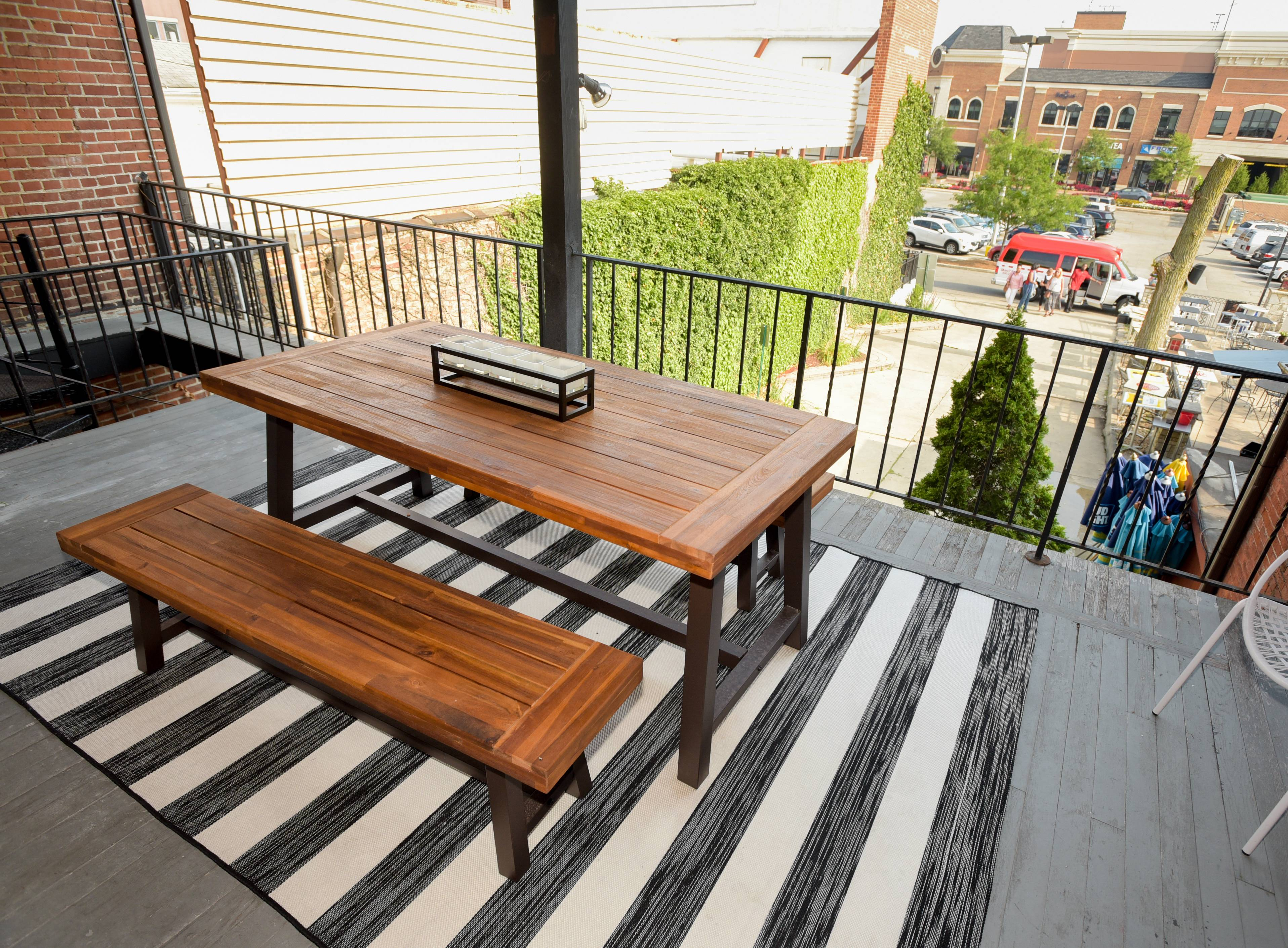 A patio on the north side of the Klique co-working space in downtown Naperville allows workers to take their projects outside or have a lunch break. The space targeted toward female entrepreneurs opened in April and has room for between 10 and 15 co-workers.