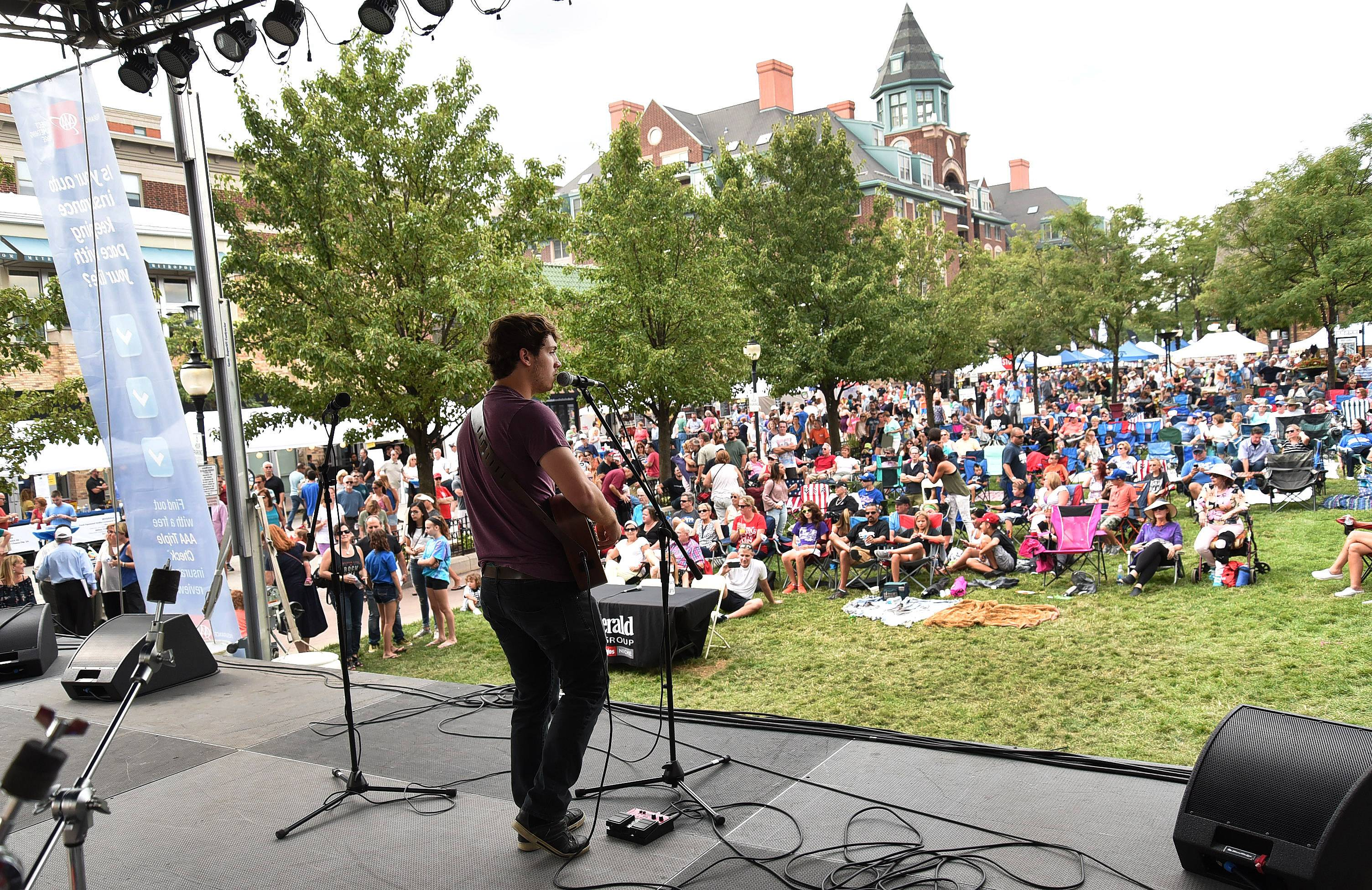 "Garrett Ryan is the 2017 grand prize winner of Suburban Chicago's Got Talent. For his winning encore, the West Dundee singer-songwriter performed his original song ""This Love"" (featuring snippets of songs by Britney Spears and the Backstreet Boys) at the Saturday finale at the Taste of Arlington Heights."