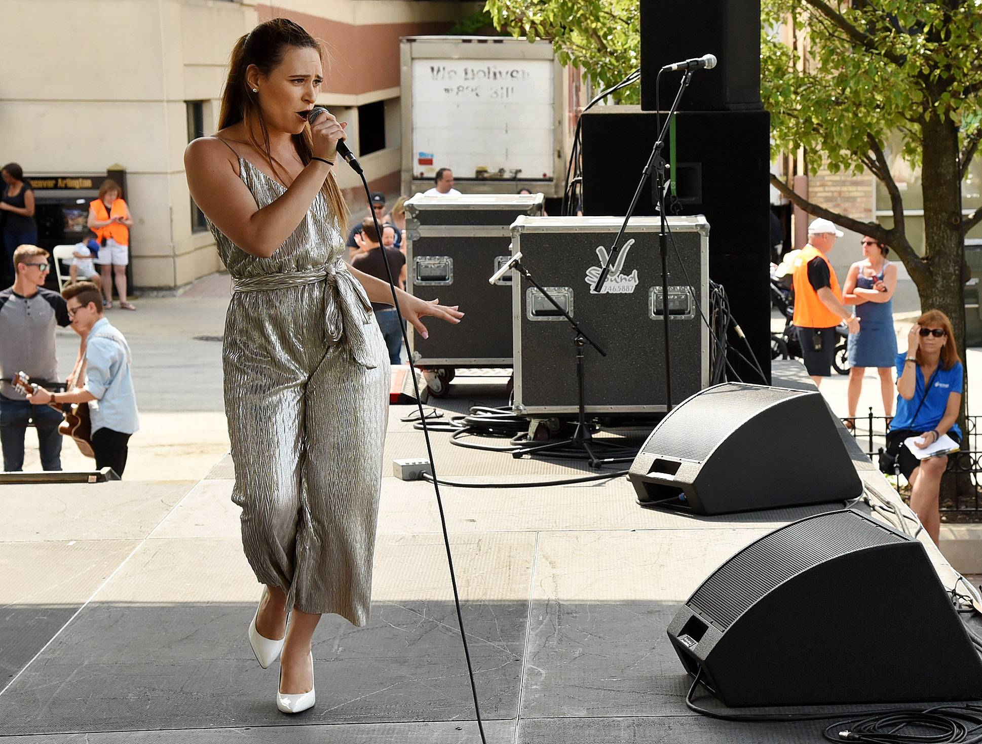 "Marina Alyse of Lake in the Hills/Chicago performed Tina Turner's ""River Deep Mountain High"" at the 2017 Suburban Chicago's Got Talent finale on Saturday at the Taste of Arlington Heights."