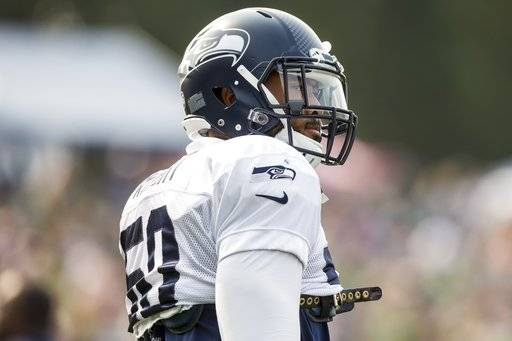 Seahawks outside linebacker K.J. Wright takes the field for Seattle Seahawks  Training Camp at the Virginia b3f940fa2