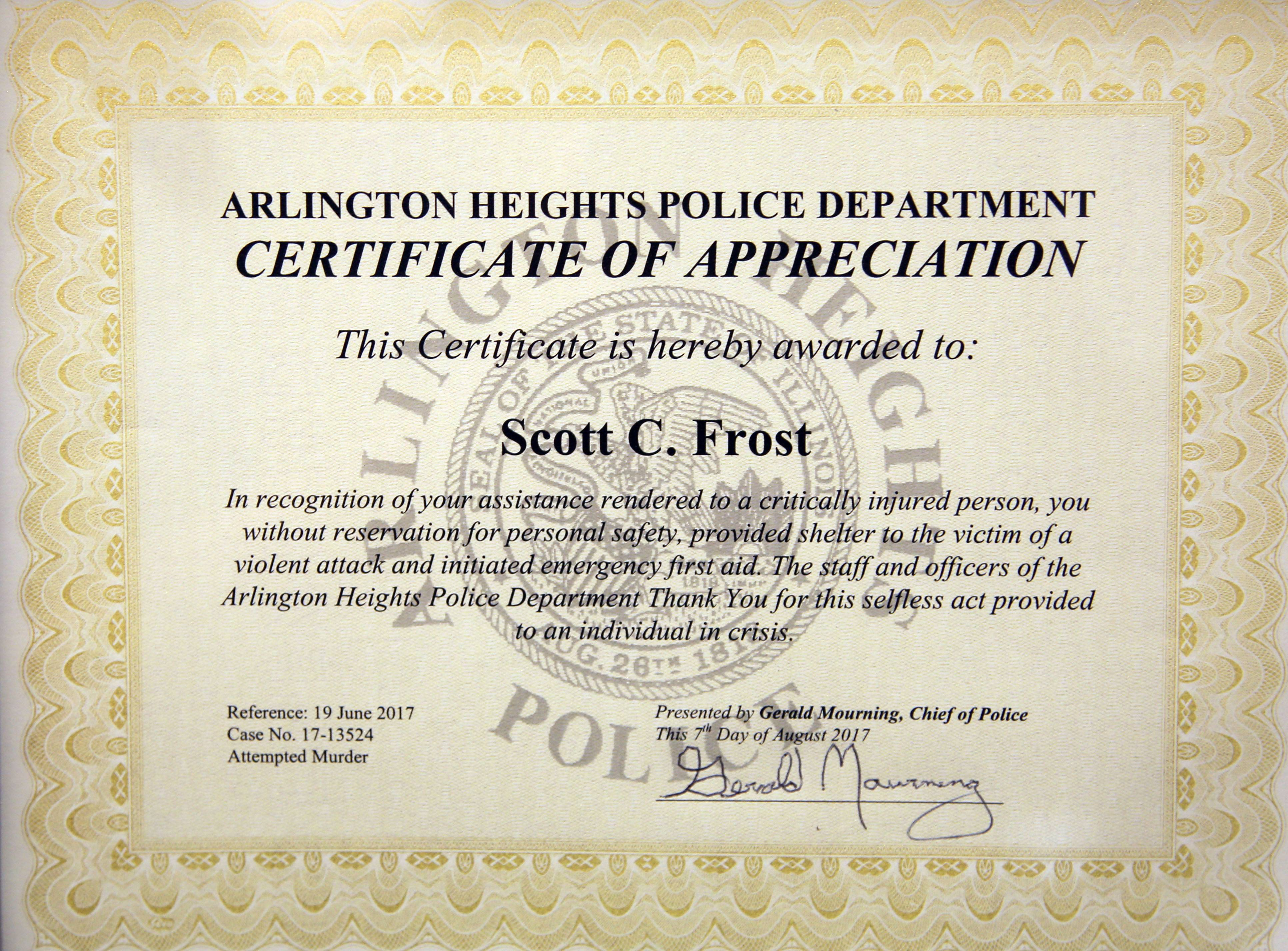 good samaritans honored for helping chain saw attack victim