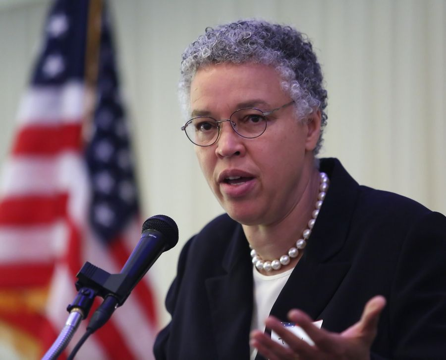 Cook County Board President Toni Preckwinkle is seeking $17 million from an advocacy group that fought the county's soda tax.