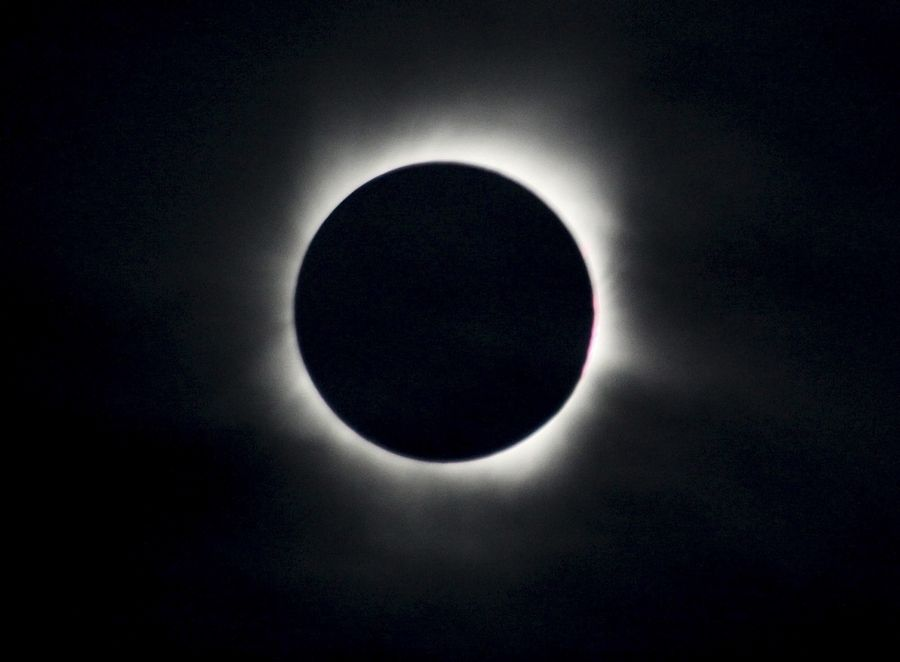 Here is how a solar eclipse looked in Baihata, India, in 2009. Southern Illinois will offer a similar view Aug. 21 if the weather cooperates.