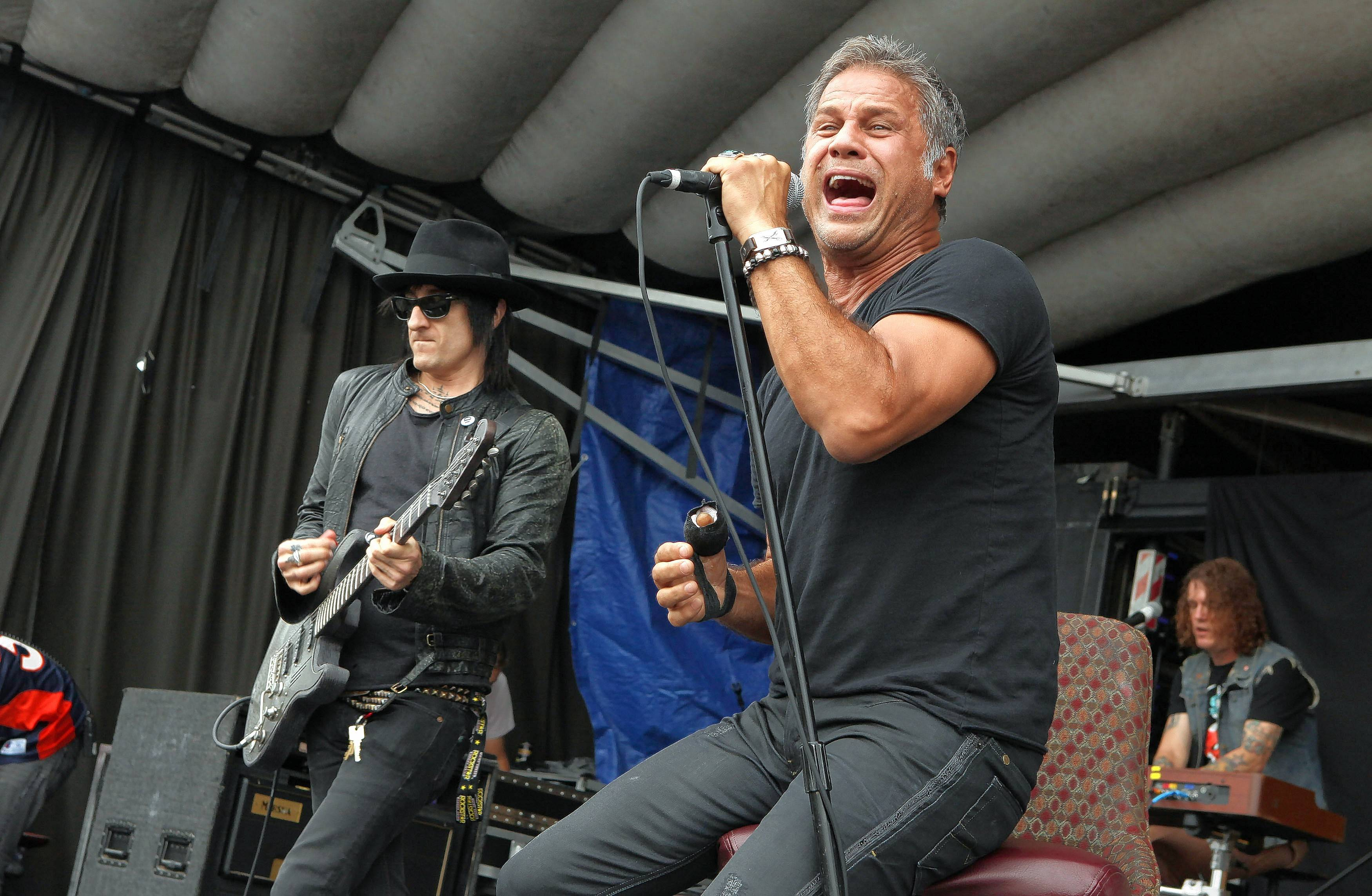 Richard Fortus, Jon Stevens and Dizzy Reed of The Dead Daisies, which performs at the Arcada Theatre in St. Charles on Thursday, Aug. 10.