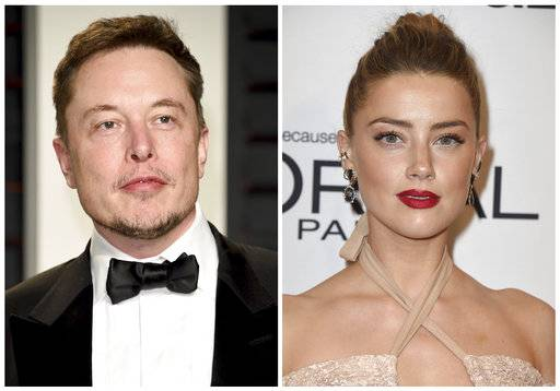 "This combination photo shows Elon Musk at the Vanity Fair Oscar Party on Feb. 26, 2017, in Beverly Hills, Calif., left, and actress Amber Heard at the Glamour Women of the Year Awards on Nov. 14, 2016, in Los Angeles. Heard says she has broken up with SpaceX and Tesla mogul Elon Musk. She wrote on Instagram that although she and Musk have ended their romance, they ""care deeply for one another and remain close.� Heard says she is going through ""difficult, very human times.� (Photo by Evan Agostini, left, and Jordan Strauss/Invision/AP, File)"