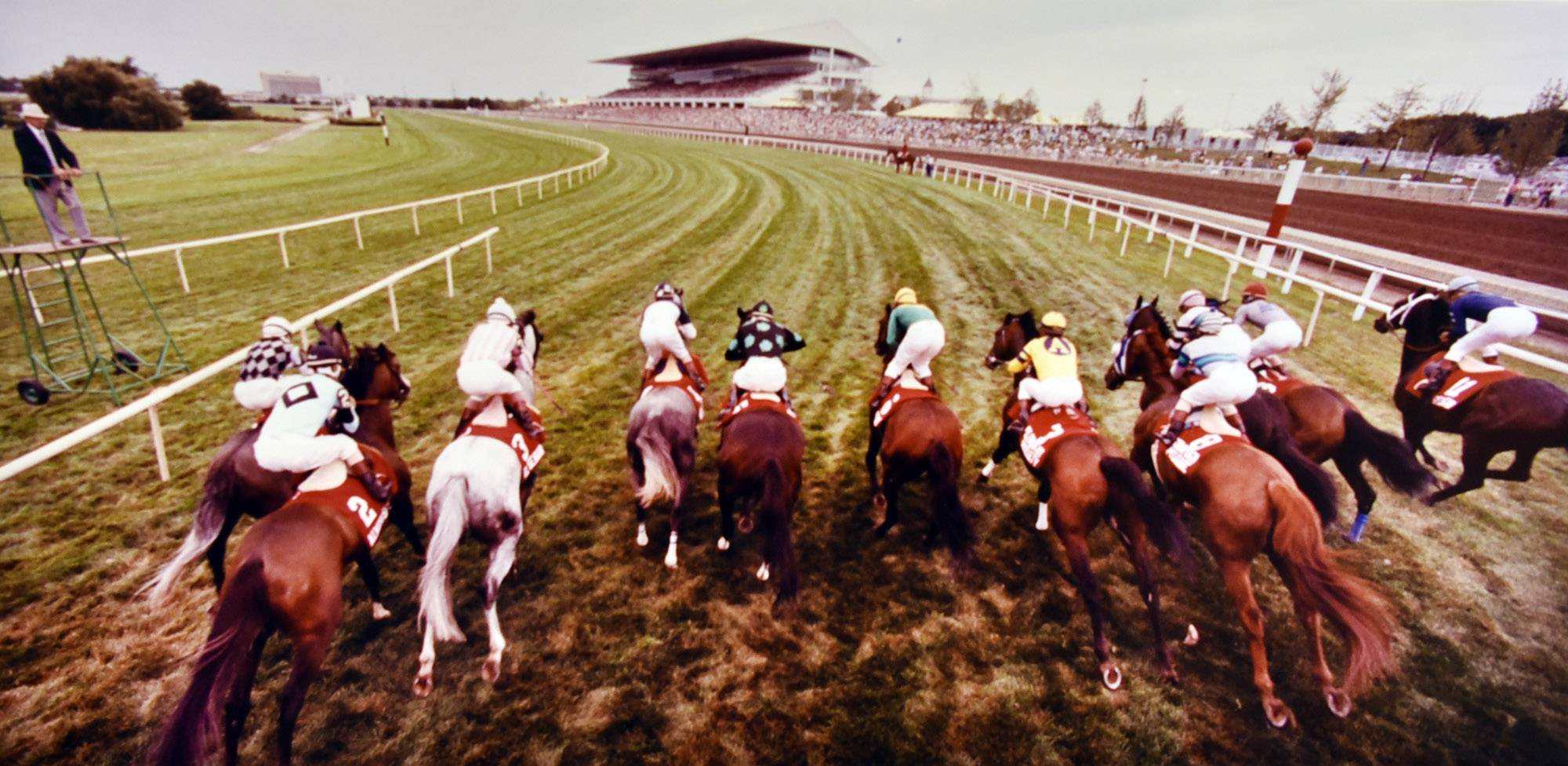 The start of the Arlington Million in the early 1990s at Arlington Park.