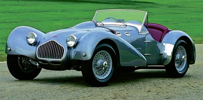 The beautifully restored 1950 Allard J2