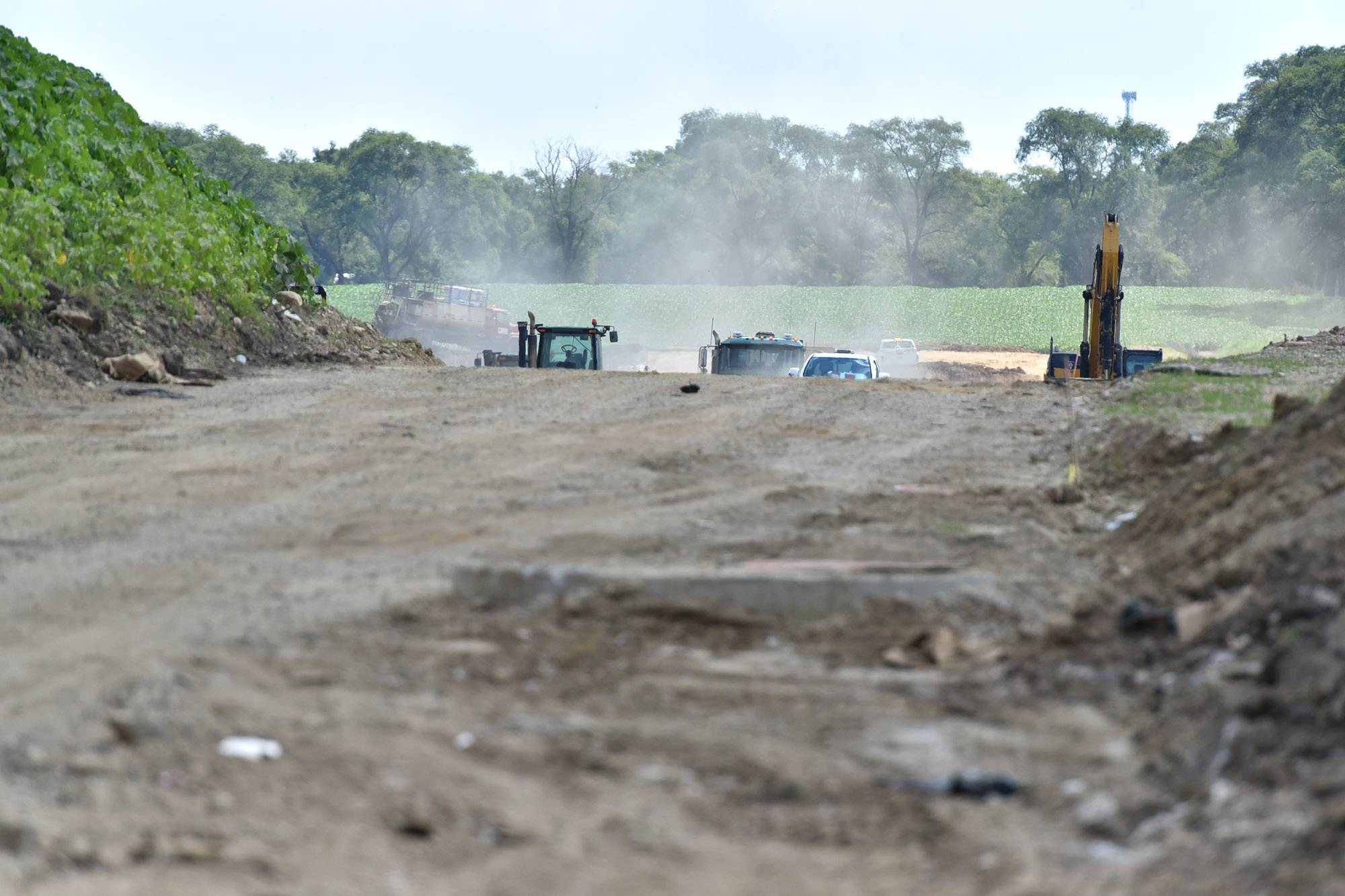 Construction crews extended their work hours on the Longmeadow Parkway project this month. But the largest and most expensive portions of the project, including the bridge over the Fox River, will come in 2018.