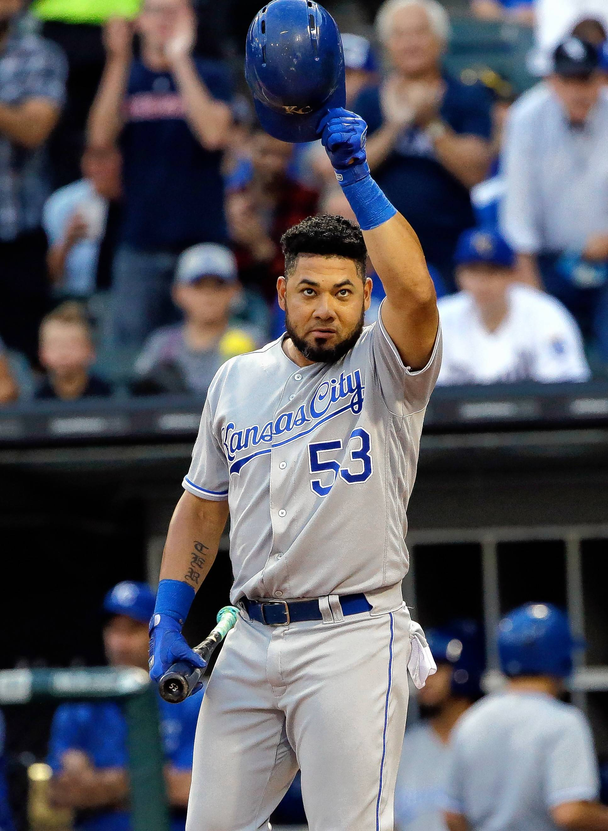 Traded by the Chicago White Sox on July 30 for two minor-league pitchers, popular outfielder Melky Cabrera was back at Guaranteed Rate Field on Friday with the Kansas City Royals.