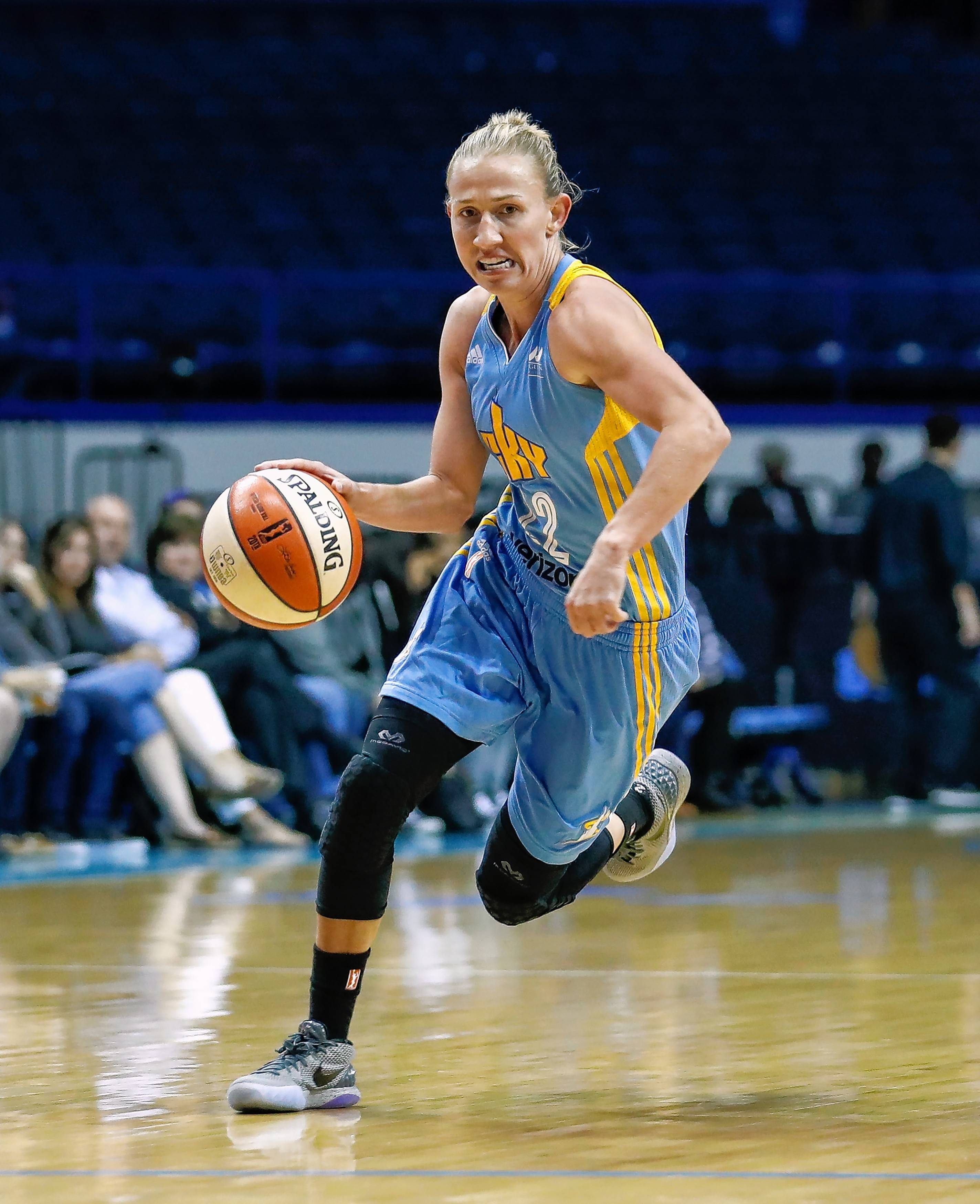 Chicago Sky guard Courtney Vandersloot is leading the WNBA in assists this season.