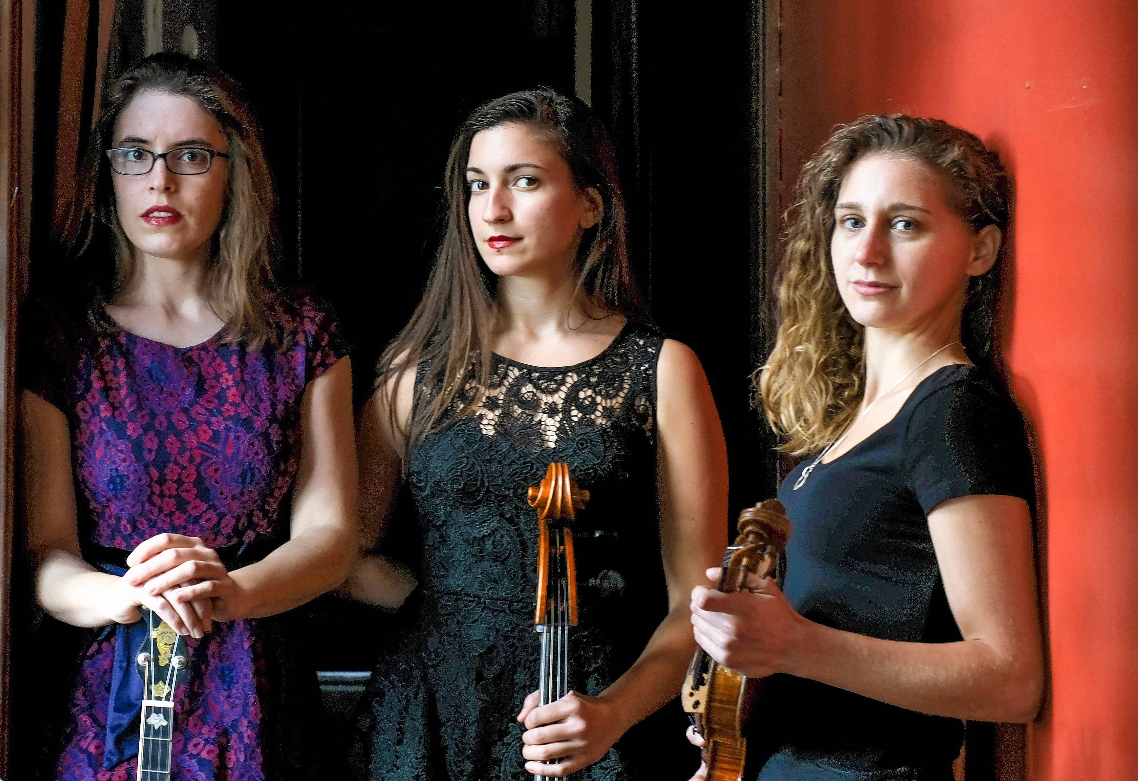 The Harpeth Rising Trio performs in concert on Sunday, Aug. 13, in Towner Green in downtown Long Grove.