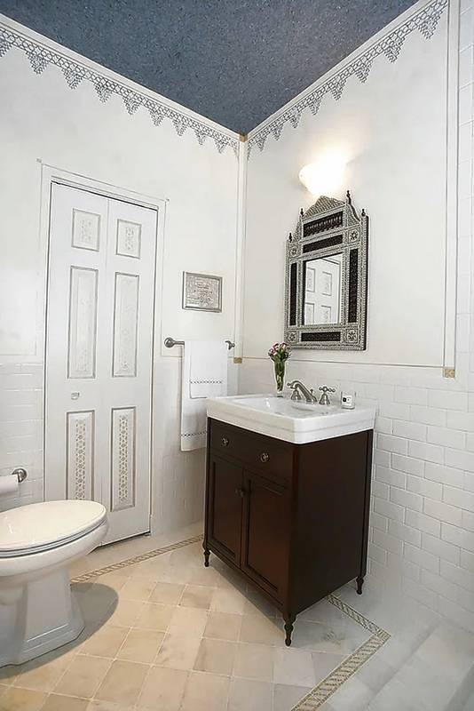 Small accents can makeover a dated bathroom for All white bathroom accessories