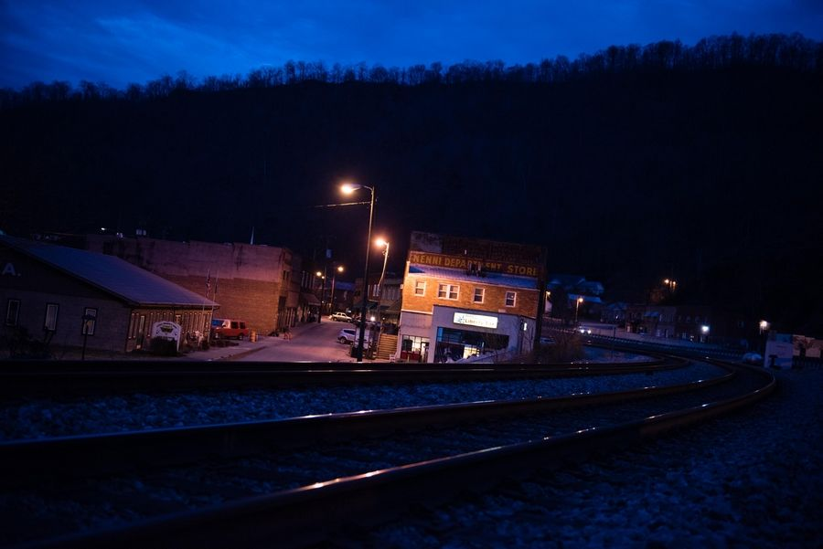 The town of Matewan, W.Va., is seen at sunrise. The state of West Virginia is ground zero for one of the worst drug crises in our nation's history. In 2015, 725 people died of overdoses in the state, the highest per capita rate in the country. Johnsie Gooslin and his family live in Matewan, which is located in Mingo County.