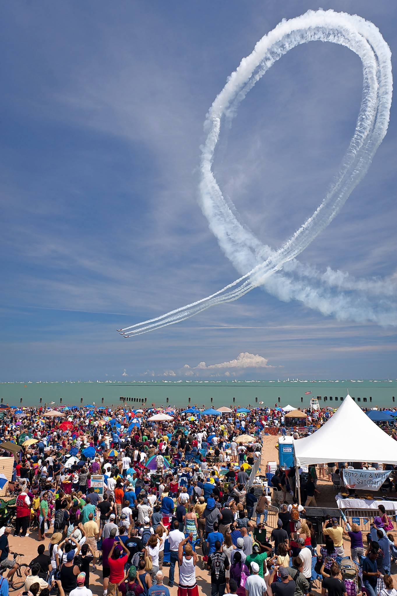 Crowds will gather on the beachfront for the 59th Annual Chicago Air and Water Show.
