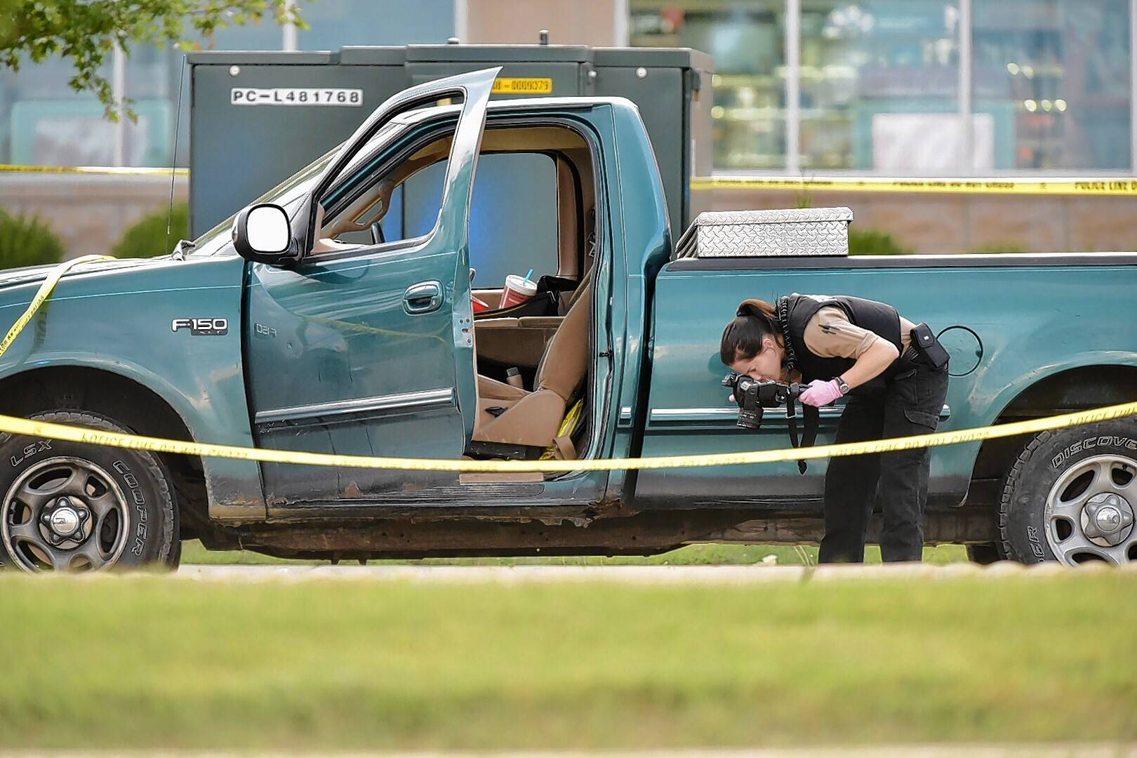 Investigators worked the scene of a shooting Monday at Roselle and Wise roads in Schaumburg.