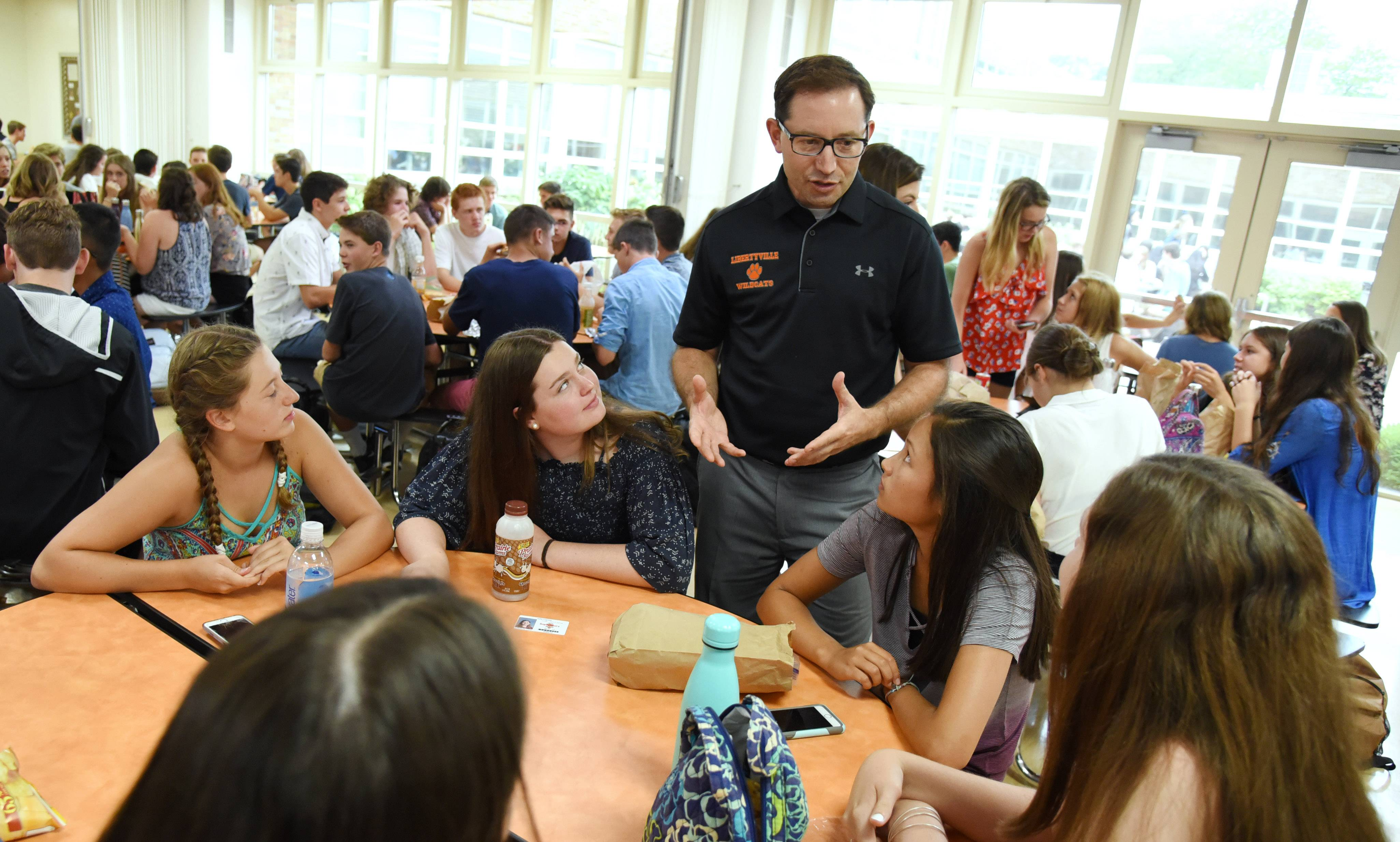 New Libertyville High School principal Thomas Koulentes said the first day of classes went well, and that included a new traffic flow and parking regulations.
