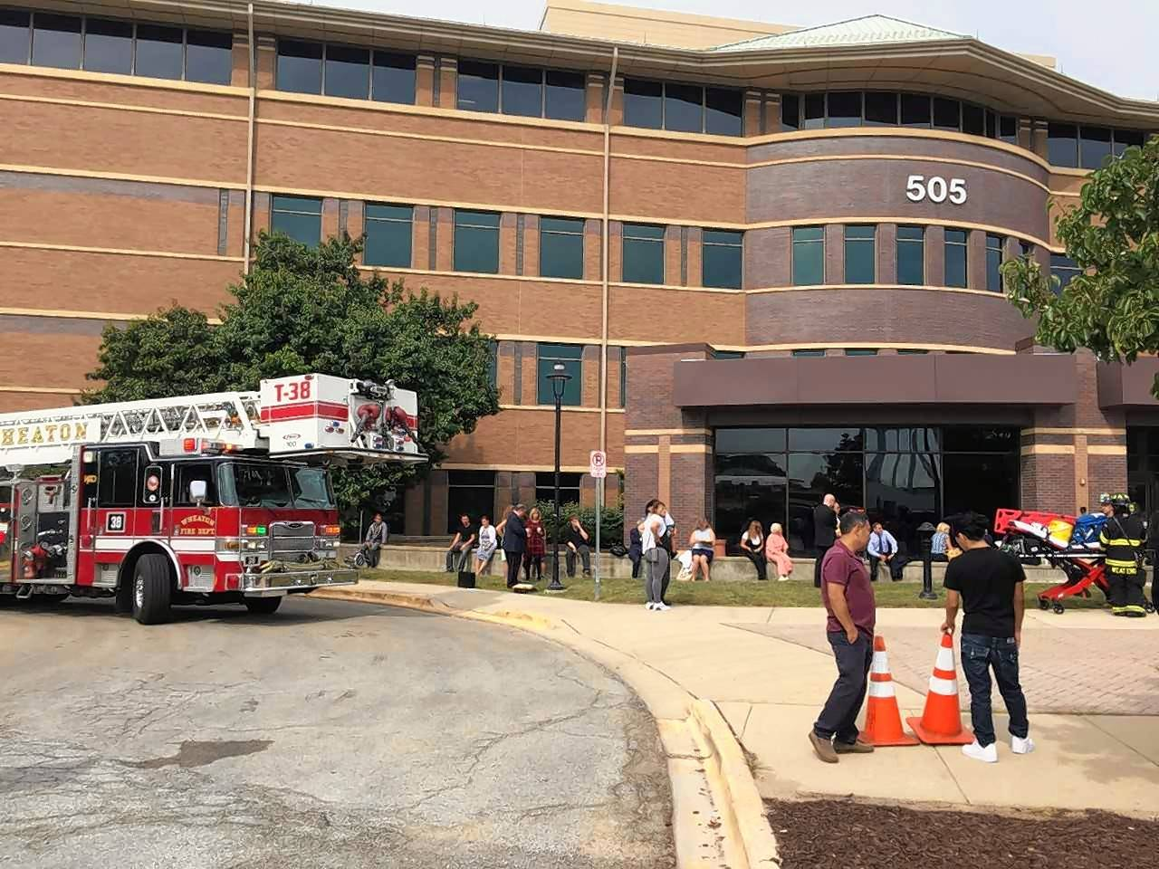An evacuation of the DuPage County Judicial Center lasted for less than a half-hour.
