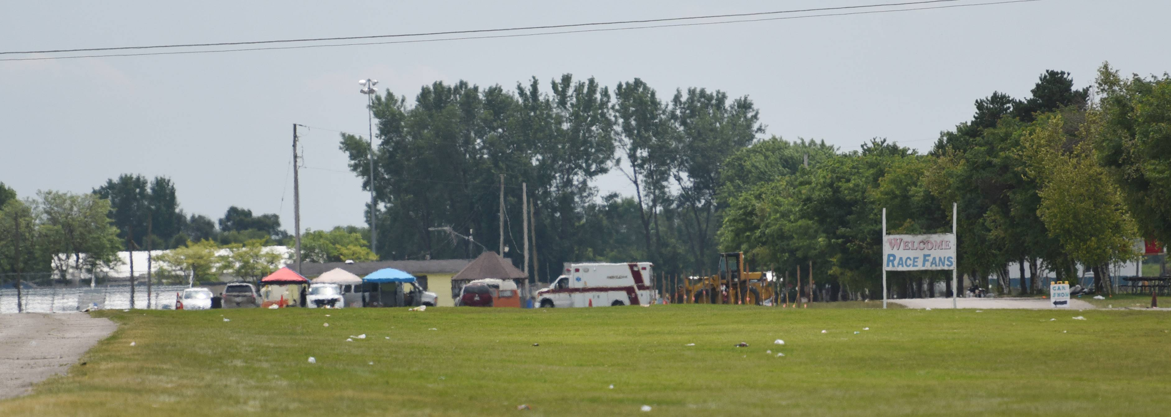 Police officials continue their investigation Monday on the triple shooting Sunday night at Great Lakes Dragaway in Kenosha County, Wisconsin.