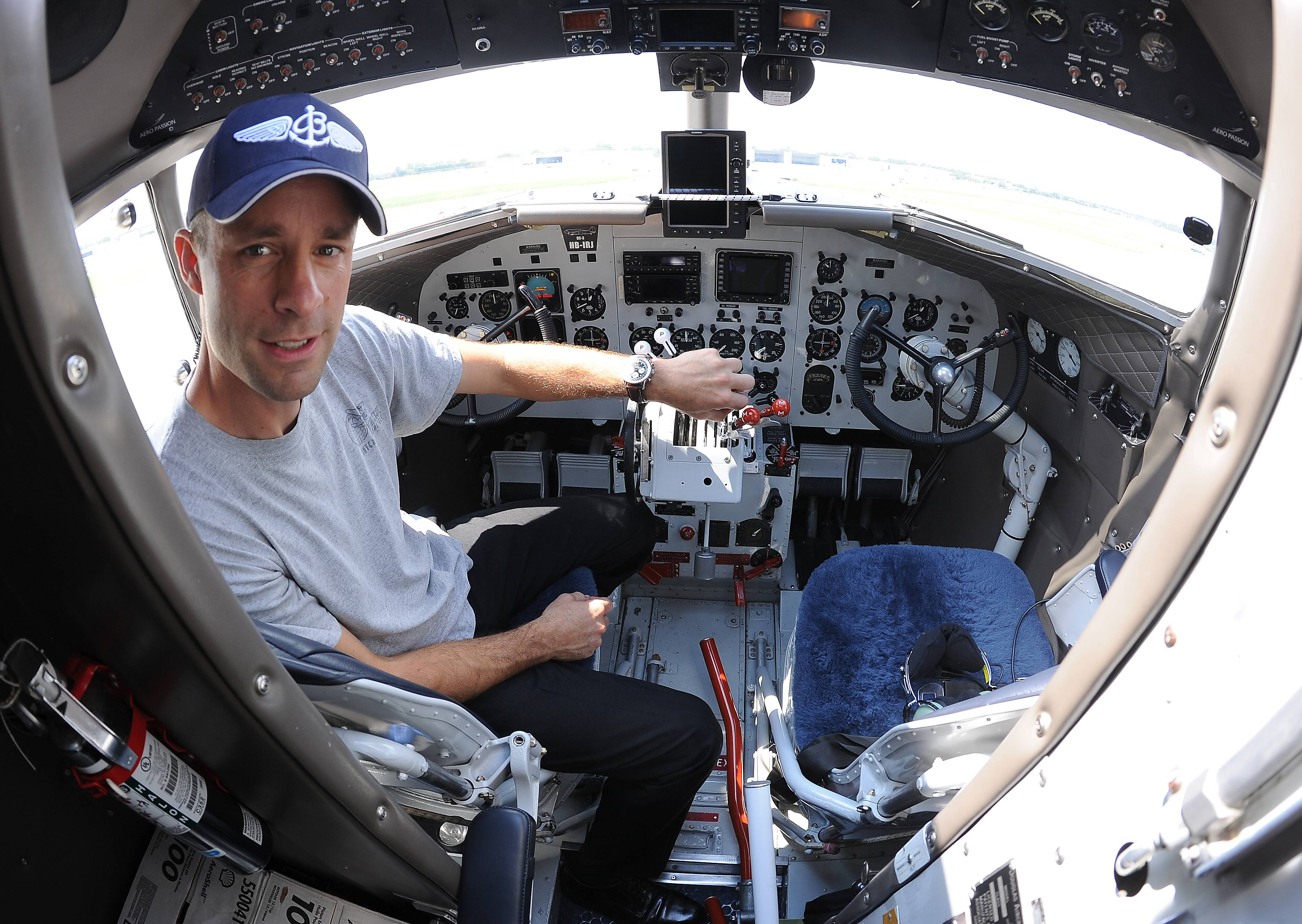 "Paul Bazeley of the United Kingdom, a pilot and mechanic on the Douglas DC-3 world tour, says the trip has been a ""massive amount of fun."" The crew stopped at Chicago Executive Airport Tuesday for fuel and supplies."