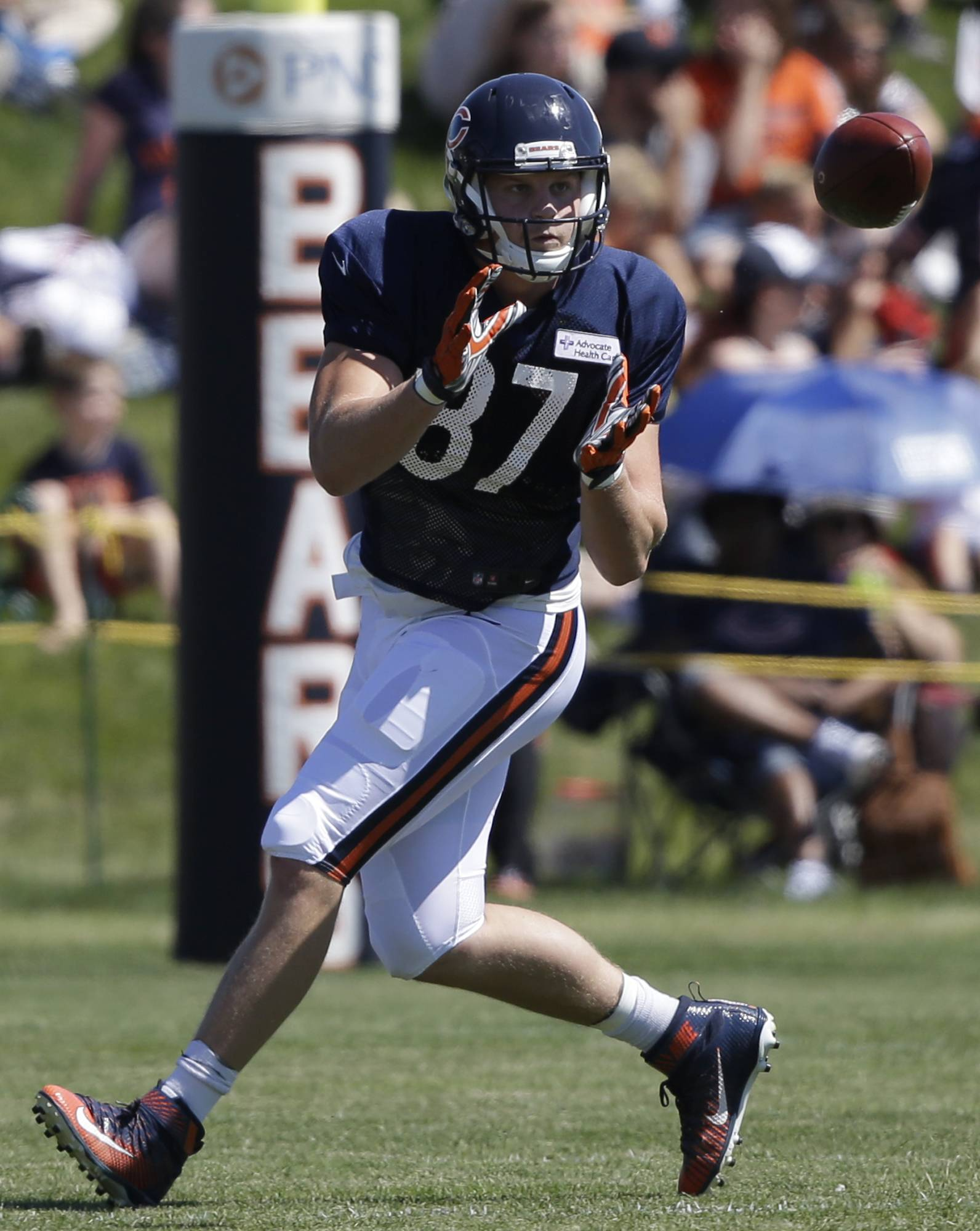 Chicago Bears tight end Adam Shaheen had just one catch in his first preseason game.