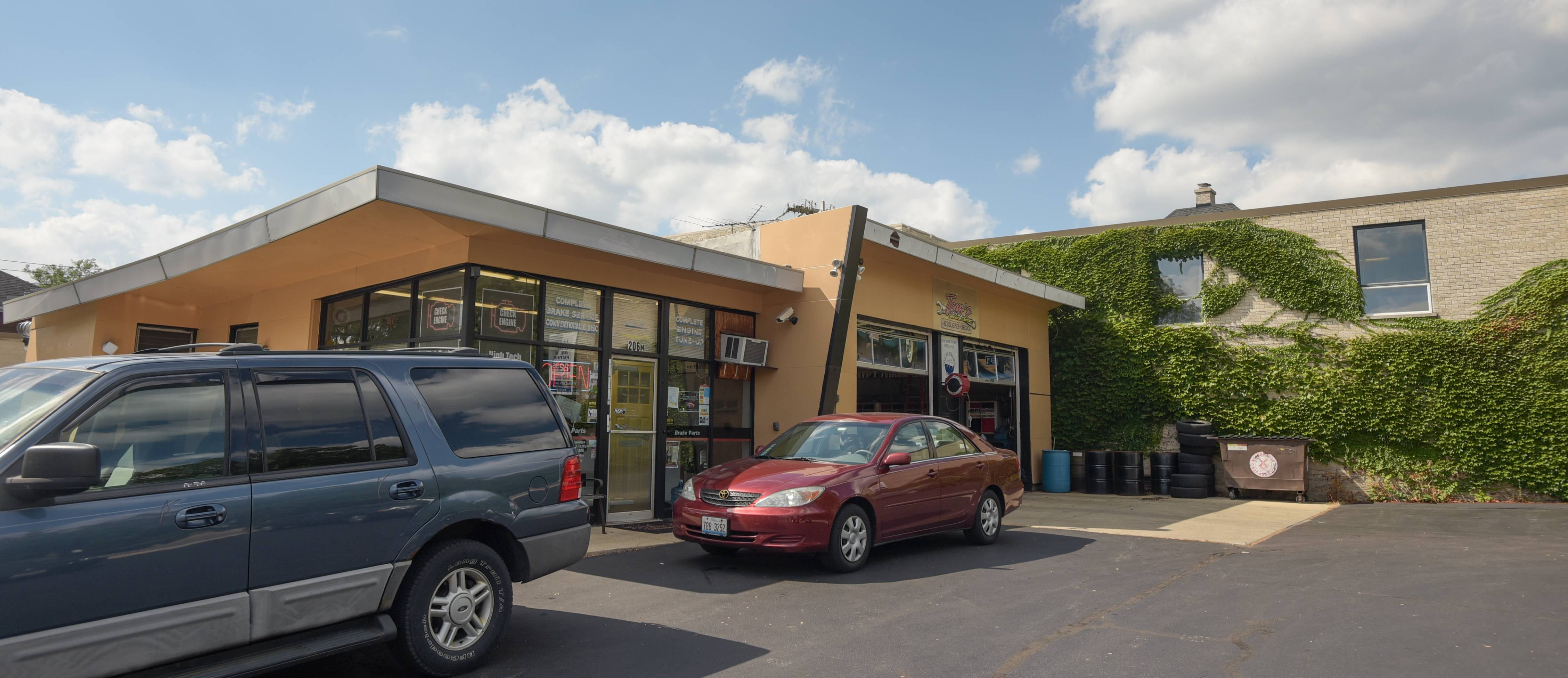 Tom's Service Station is closing next week after nearly 50 years in downtown Wheaton. The property has been sold to a developer who plans to replace it with a one-story retail building.
