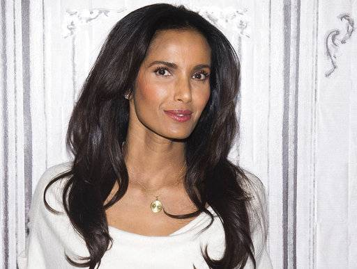 "FILE - In this March 8, 2016 file photo, Padma Lakshmi participates in a speaker series at AOL Studios in New York to discuss the upcoming finale of ""Top Chef."" Four Teamsters charged with threatening and harassing the cast and nonunion crew of the TV reality show were acquitted of all charges on Tuesday, Aug. 15, 2017, in federal court in Boston. Lakshmi had testified she was ""terrified"" when a Teamster confronted her outside a Boston-area restaurant where the series filmed in 2014. (Photo by Charles Sykes/Invision/AP, File)"