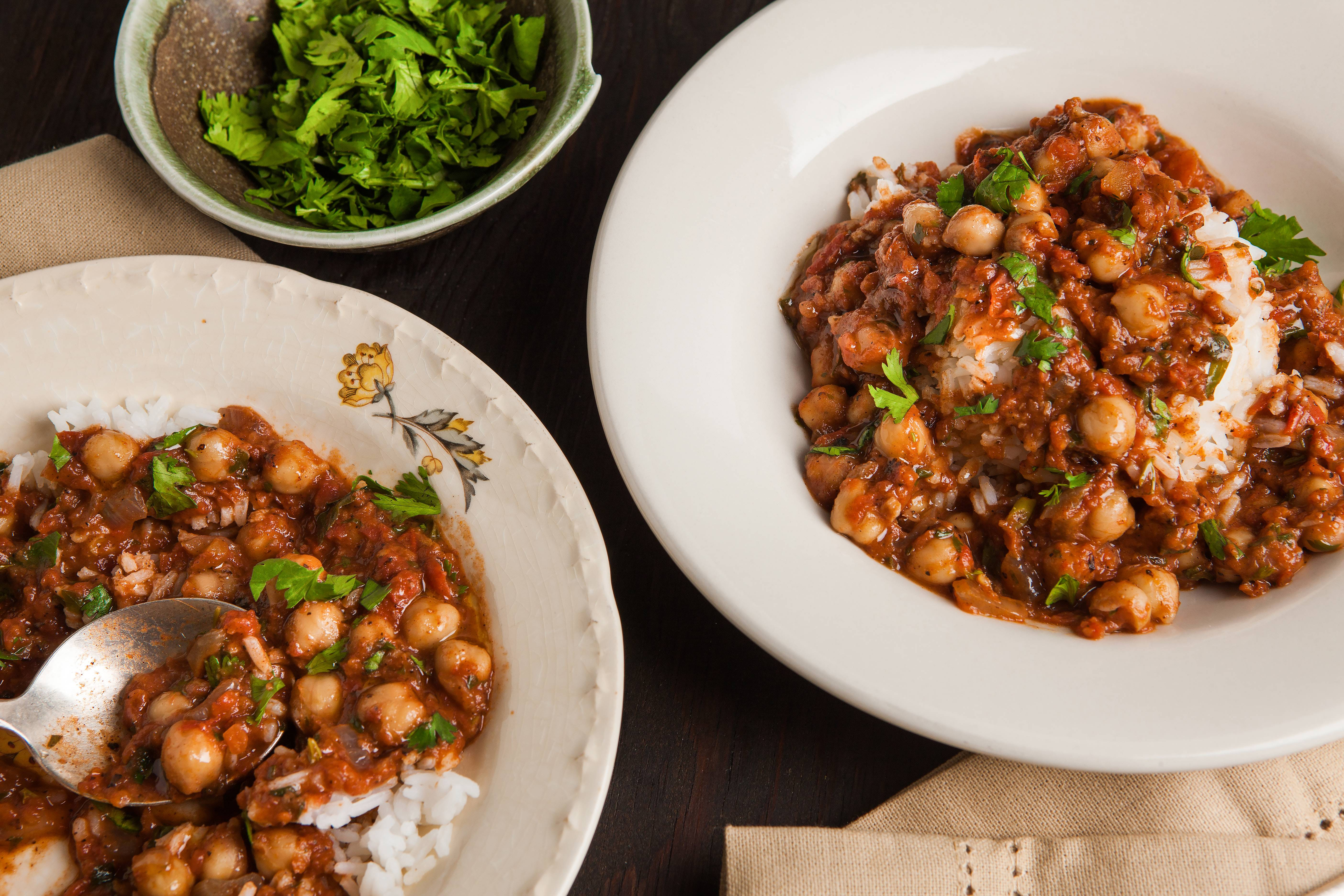 Chickpea tikka masala: It's not traditional, but it sure tastes great
