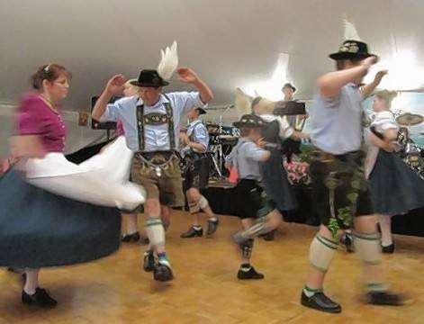 German dancing is part of the Oktoberfest in August festival this weekend in Buffalo Grove.