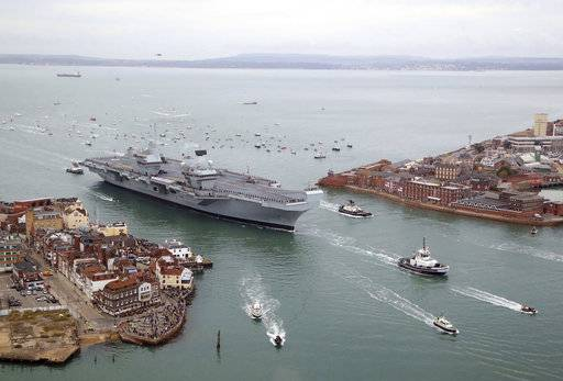 UK's new flagship aircraft carrier arrives at home port