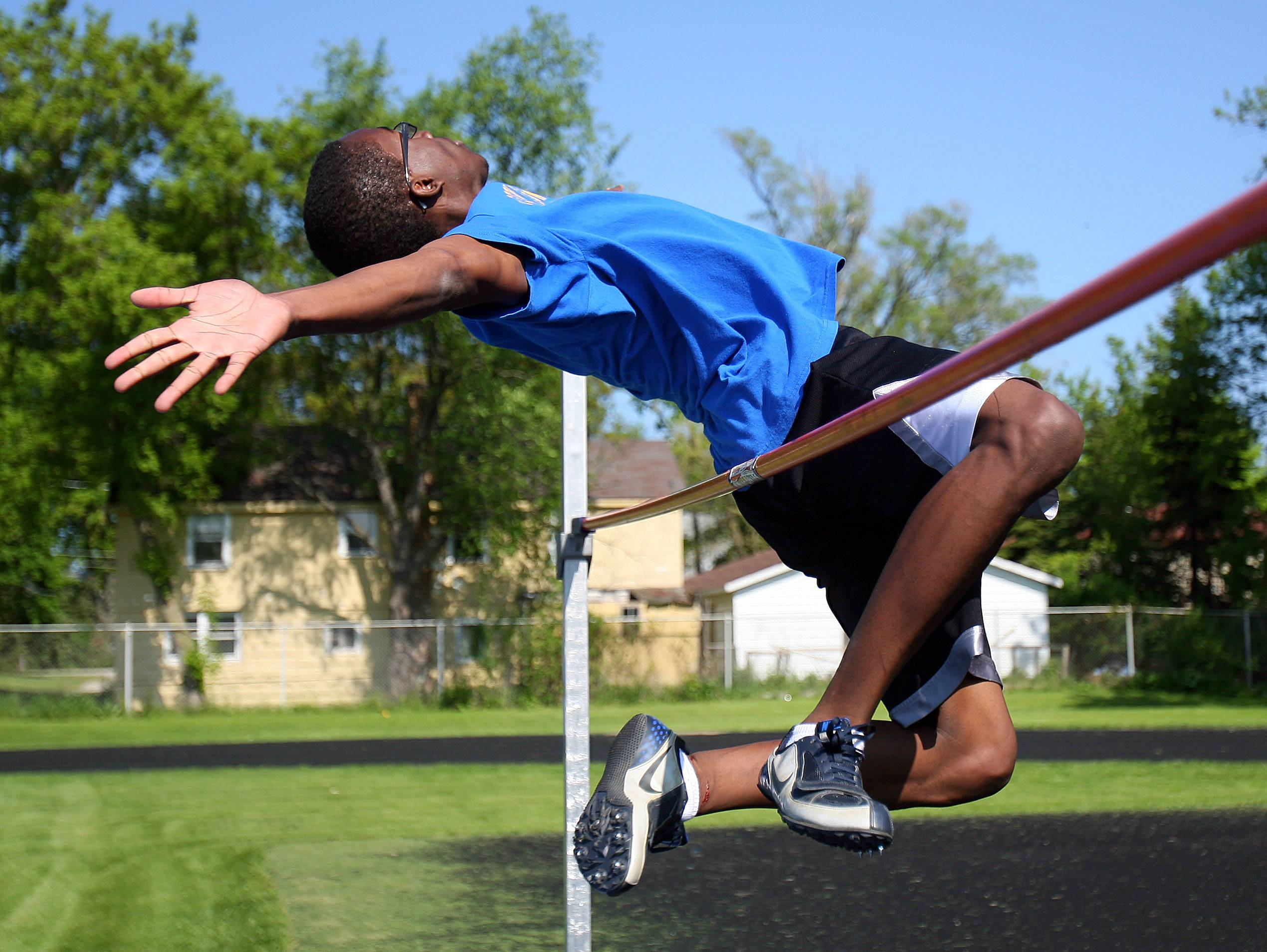Warren Township High School's Isaac Jean-Paul qualified for state in both the high and long jumps in 2011.