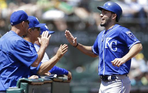 hosmer singles First-base coach rusty kuntz congratulated an excited eric hosmer after hosmer delivered his two-run single in the fifth inning wednesday night.