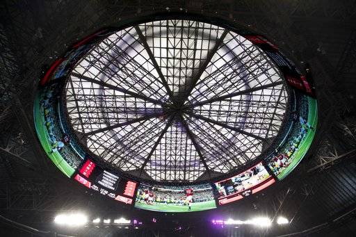 Atlanta's new stadium ready for business _ except that roof