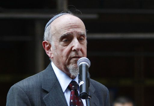 "FILE - In this July 12, 2011 file photo, Rabbi Haskel Lookstein speaks in New York. Lookstein, Ivanka Trump's rabbi denounced President Donald Trump for blaming ""both sides"" in a white nationalist rally in Charlottesville, Va., as the number of American Jewish leaders willing to criticize him grew."