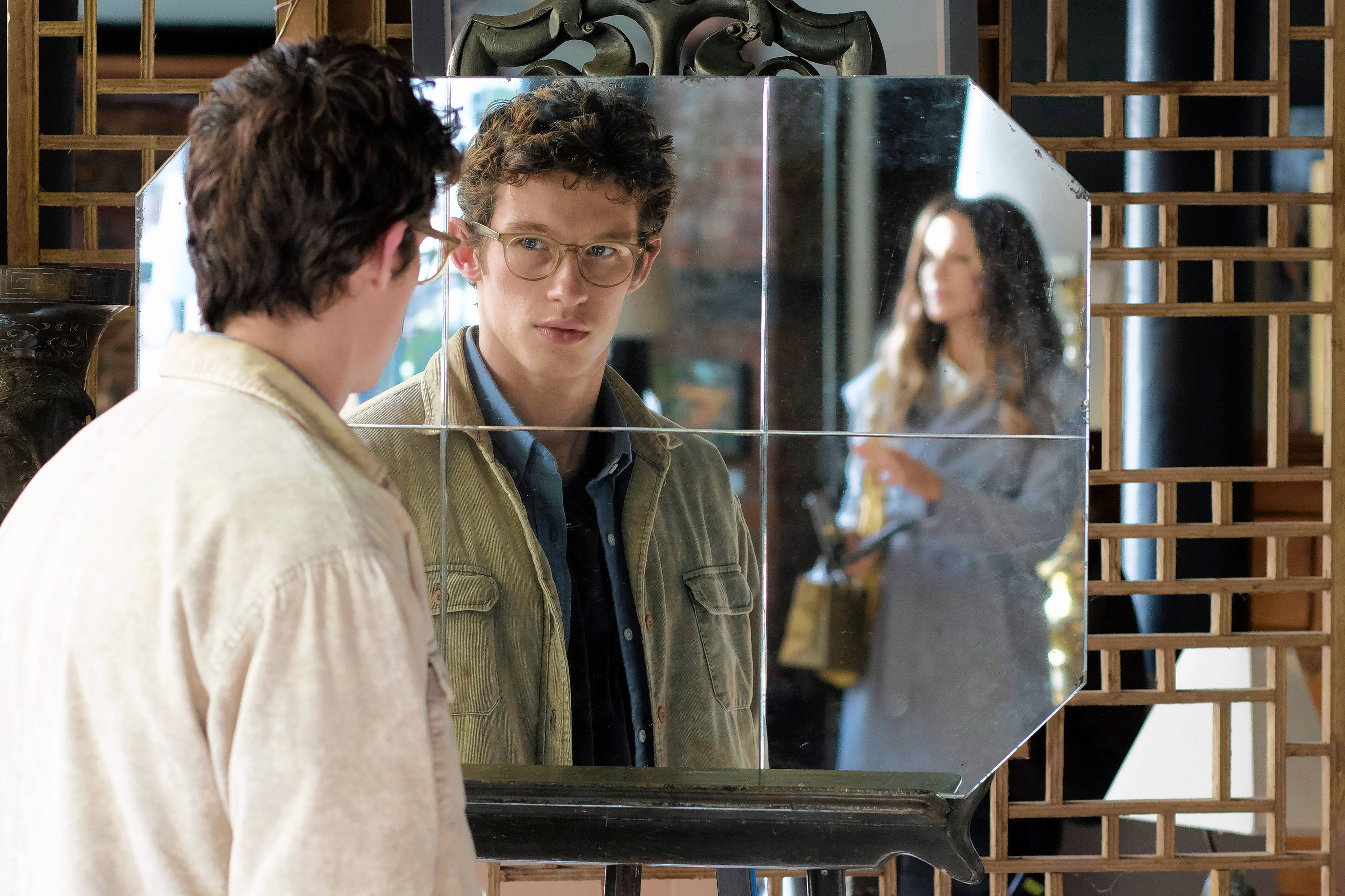 "A naive college graduate (Callum Turner) spies on his father's mistress (Kate Beckinsale) in the coming-of-age drama ""The Only Living Boy in New York."""