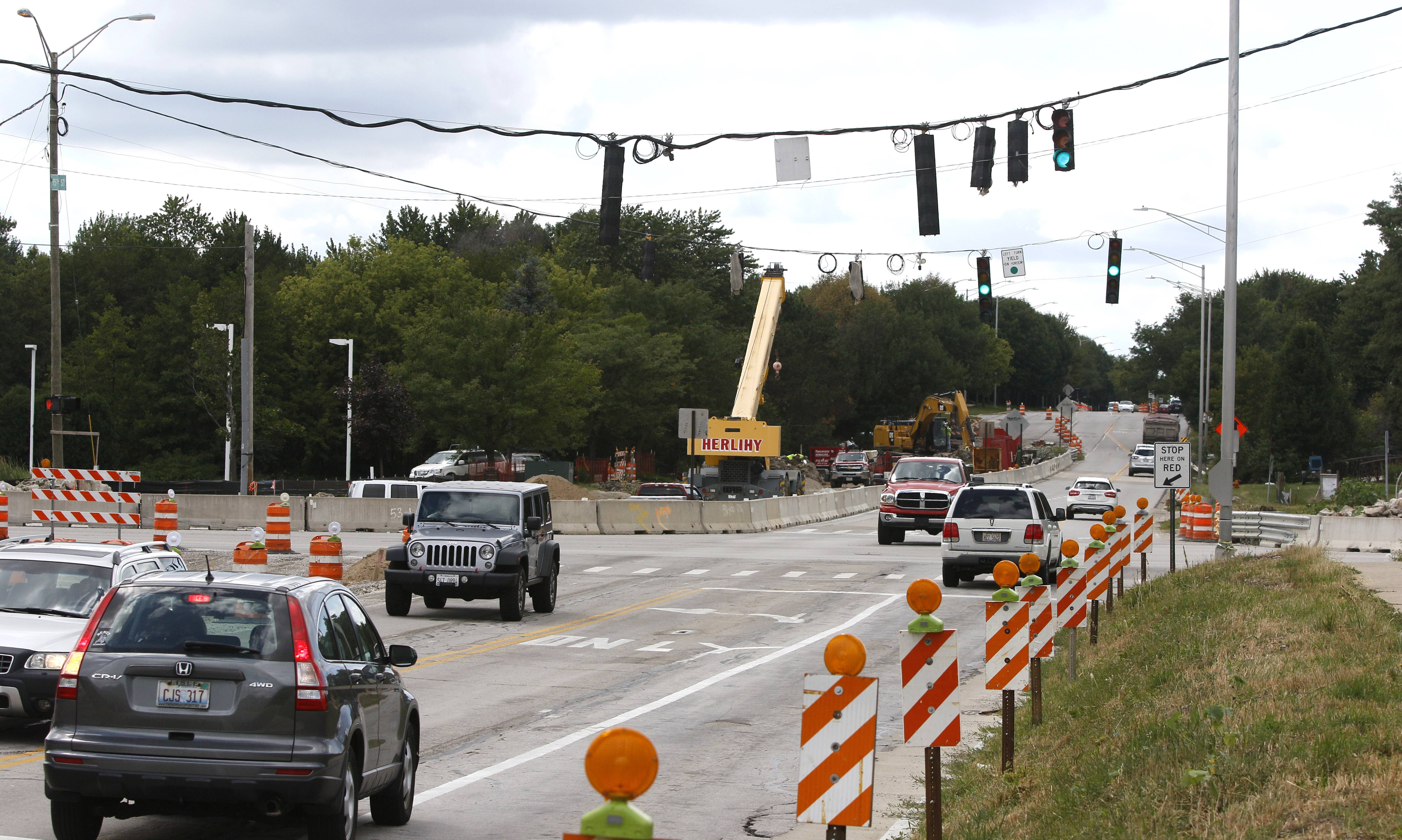 Residents at the northwest corner of 95th Street and Plainfield/Naperville Road, which has been under construction since April in a $6.5 million project to add turn lanes, say they want a sound wall to block noise from the road getting closer to their homes.