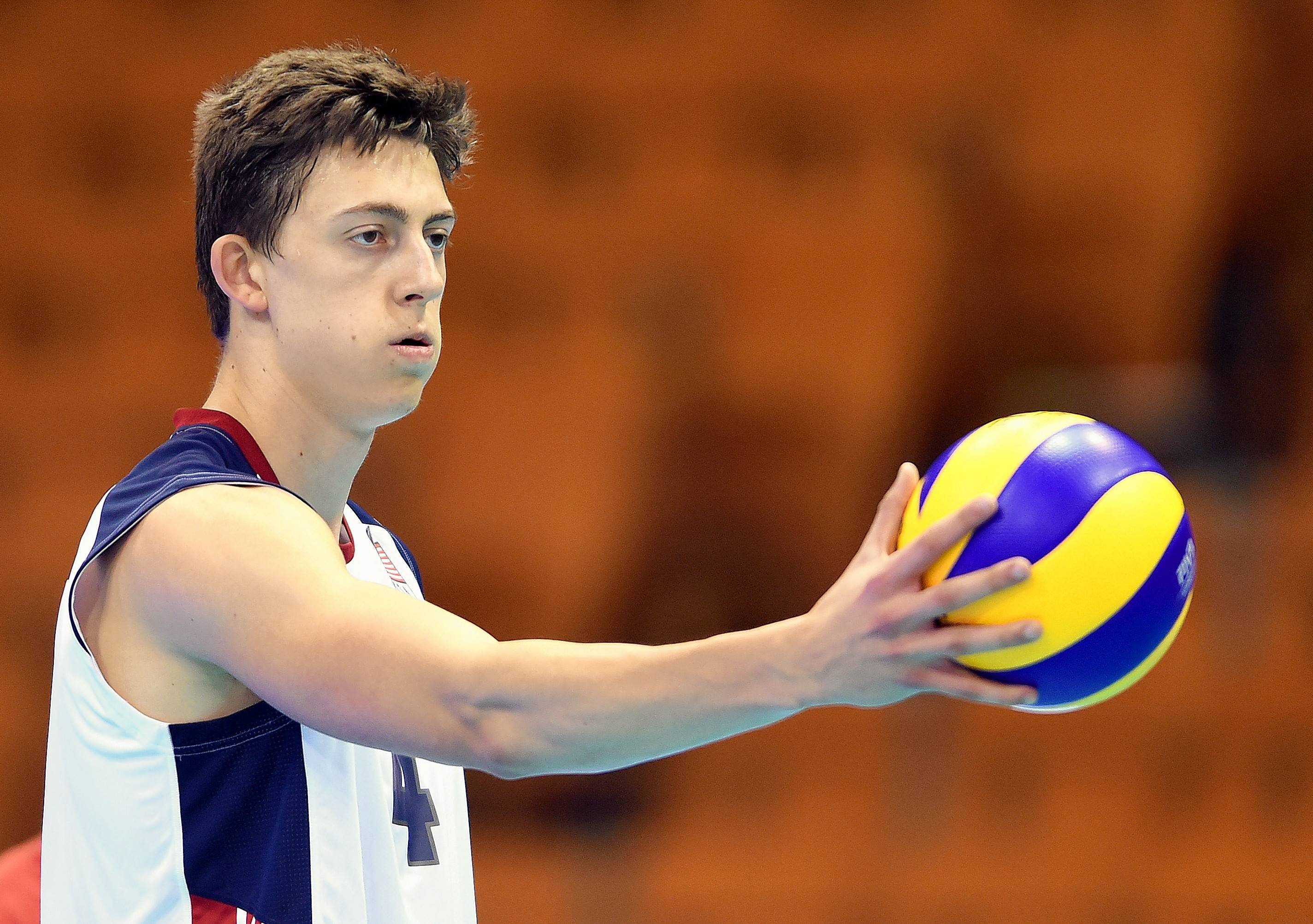 Jeffrey Jendryk, a star at Wheaton St. Francis and Loyola University, is a member of Team USA, which will play Brazil in two USAV matches at Sears Centre Arena this weekend.