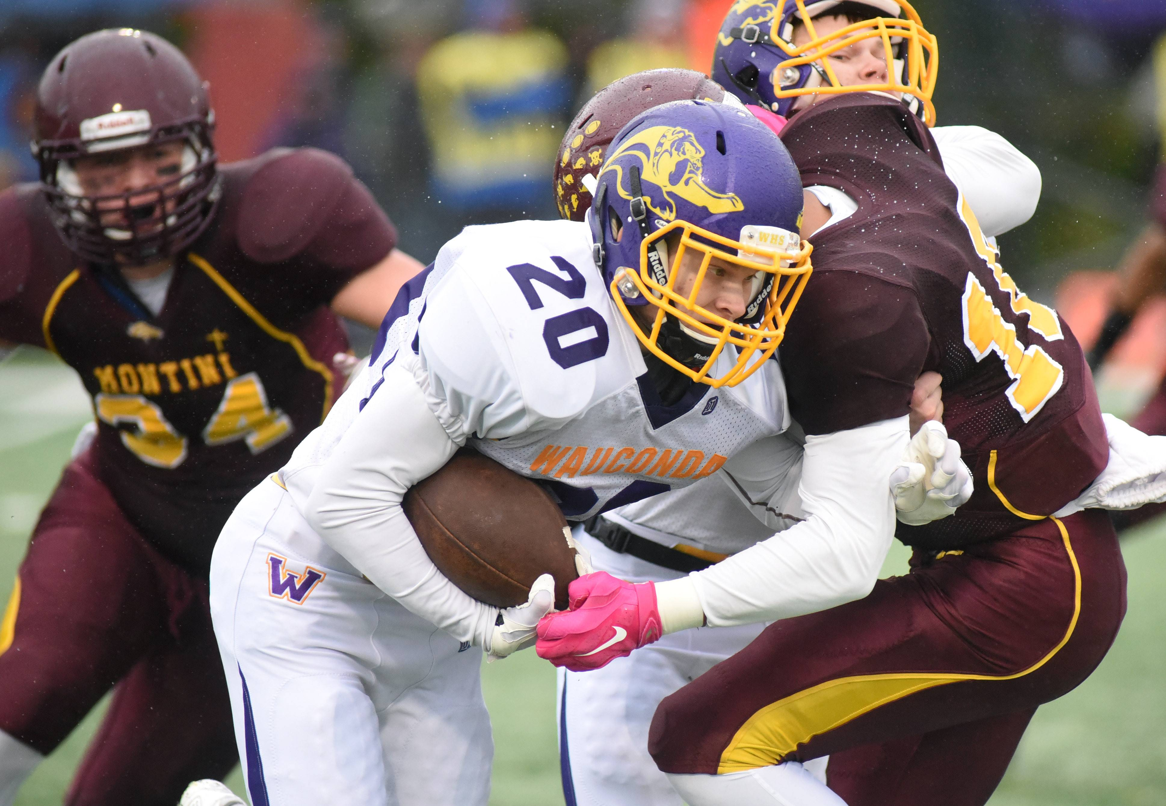 Wauconda is counting on senior running back Andry Nevski (20), who missed last season with a torn ACL.