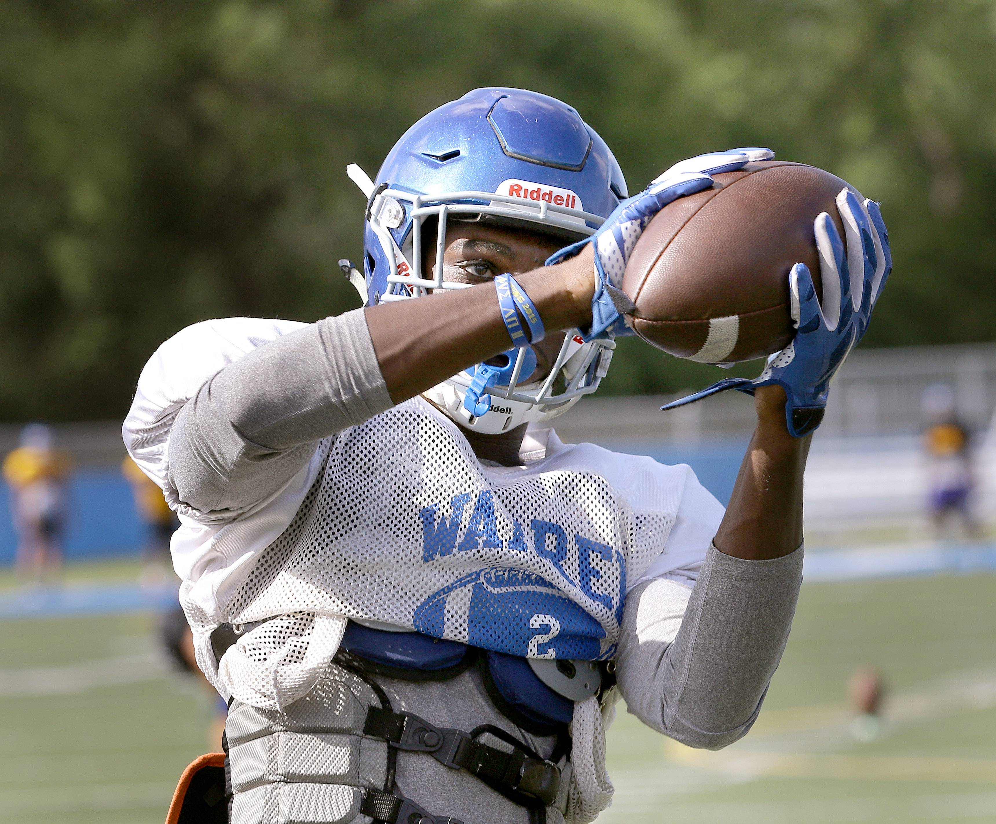Receiver Micah Jones is among the highly skilled returning players for a Warren team which figures to be young but talented.