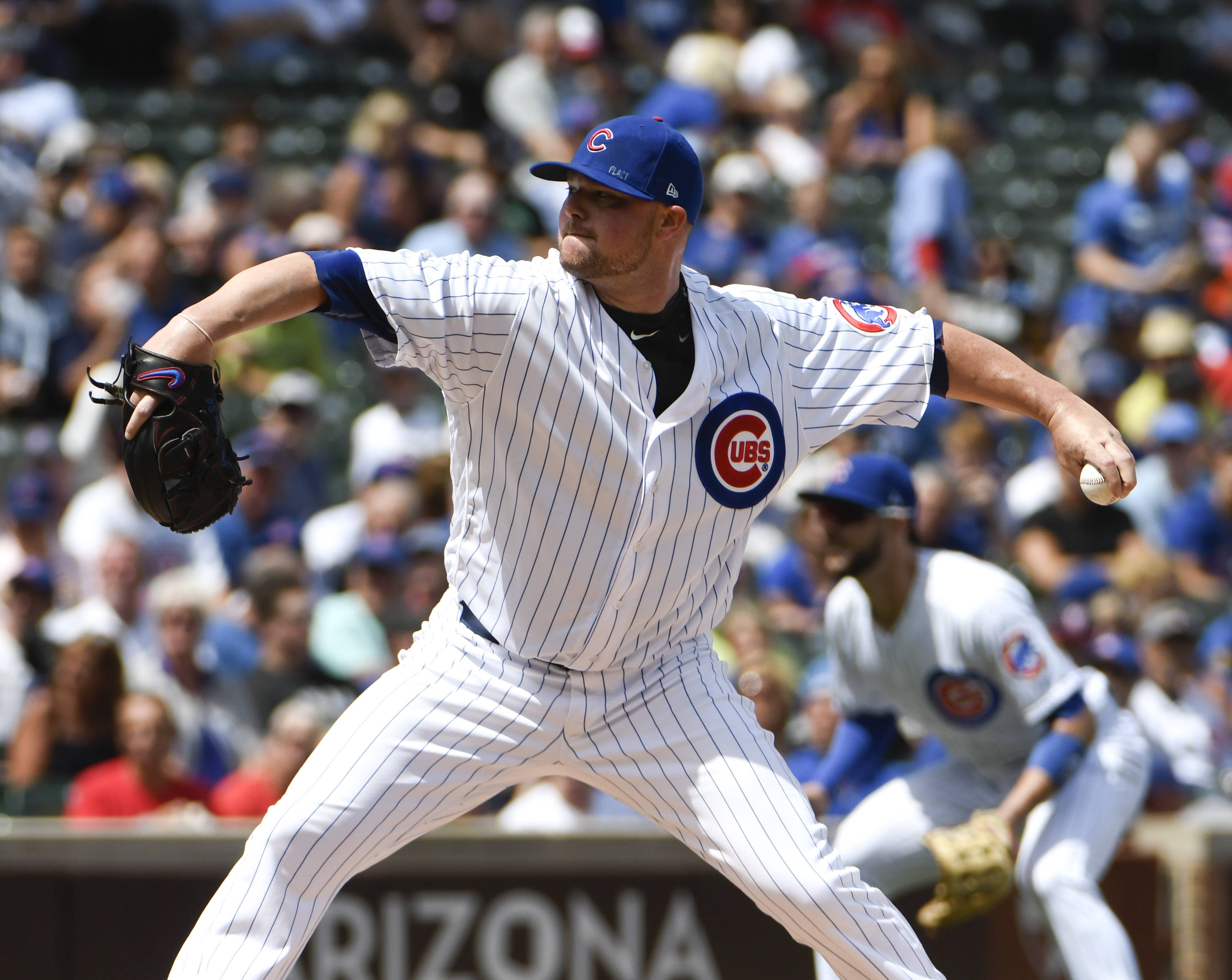 Chicago Cubs starting pitcher Jon Lester will go on the 10-day disabled list due to a lat strain and arm fatigue.