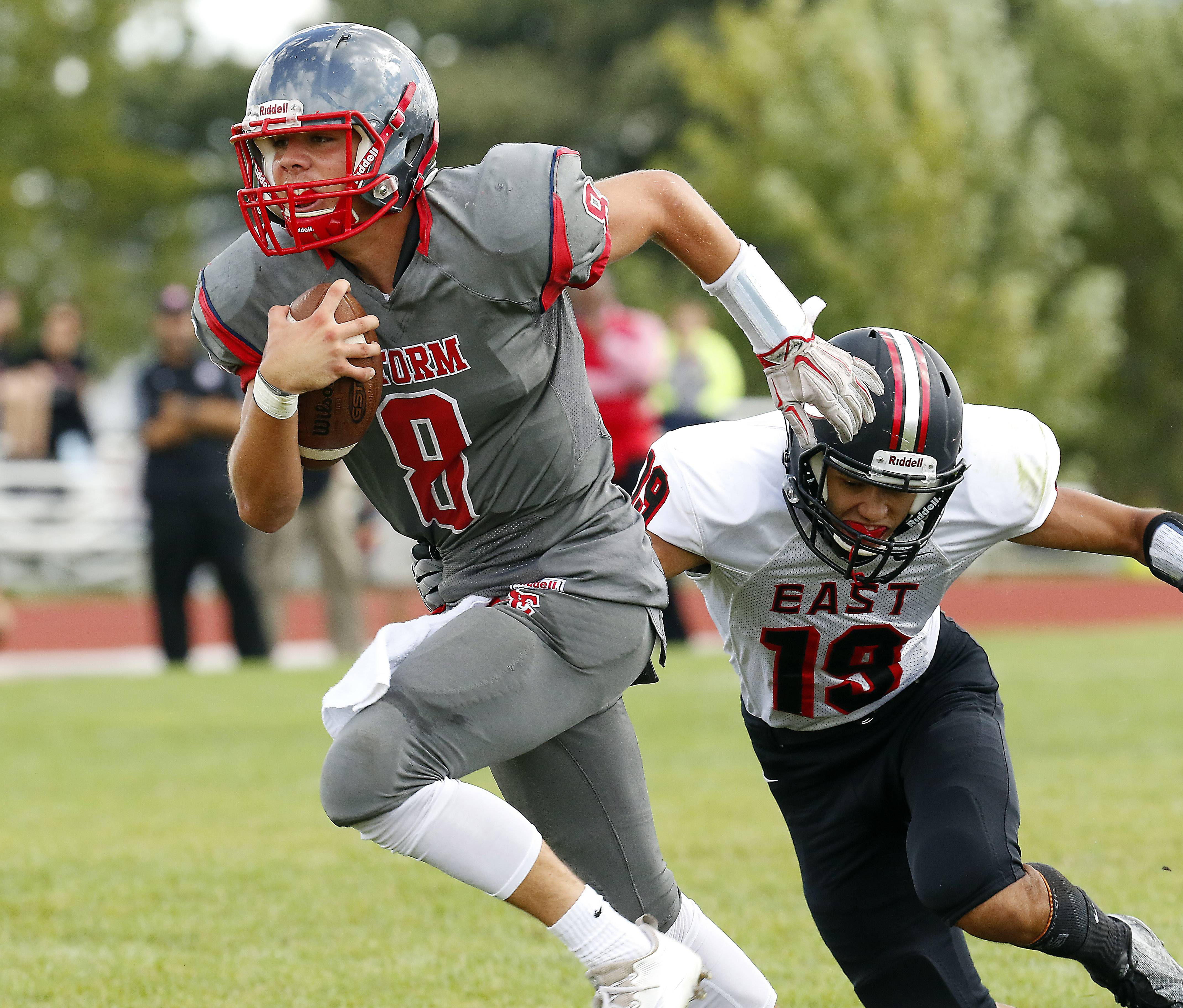 South Elgin's Nate Gomez (8) will return to quarterback the Storm this season.