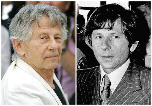 "FILE - This combination of photo shows director Roman Polanski at the photo call for the film, ""Based On A True Story,"" at the 70th international film festival, Cannes, southern France, on May 27, 2017, left, and Polanski at a Santa Monica, Calif., courthouse on Aug. 8, 1977. A Los Angeles judge has denied the impassioned plea of Roman Polanski's victim to end the criminal case against the fugitive director. Judge Scott Gordon ruled Friday, Aug. 18, 2017. Polanski must appear in Superior Court if he expects to have his four-decade-old case resolved. Gordon's ruling follows a fervent request by Polanski victim Samantha Geimer to end a ""40-year sentence"" she says was imposed on perpetrator and victim. Polanski pleaded guilty to sexually assaulting Geimer when she was 13. (AP Photo/Files)"