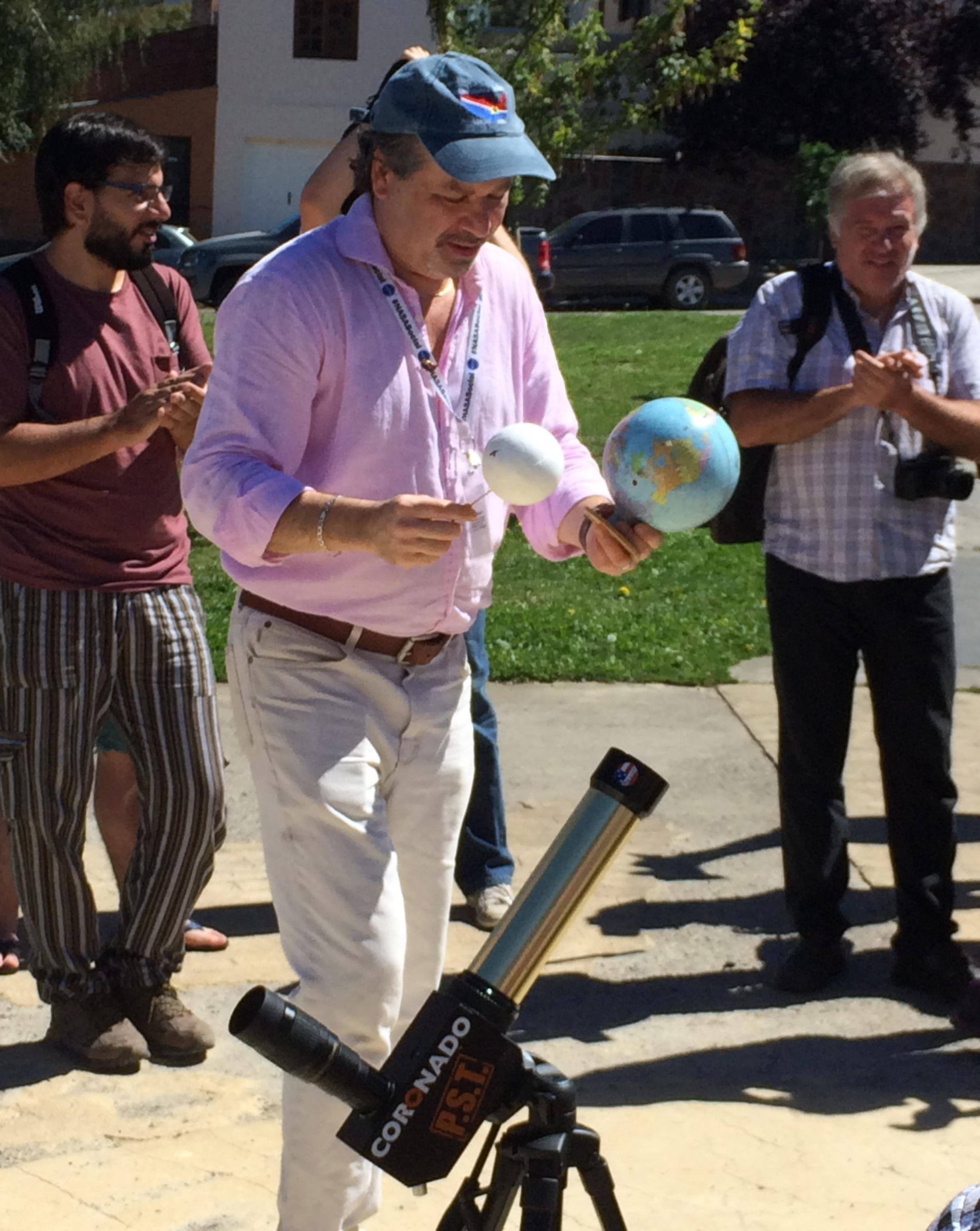 Davis: Chuck Fulco, our awesome total eclipse expert