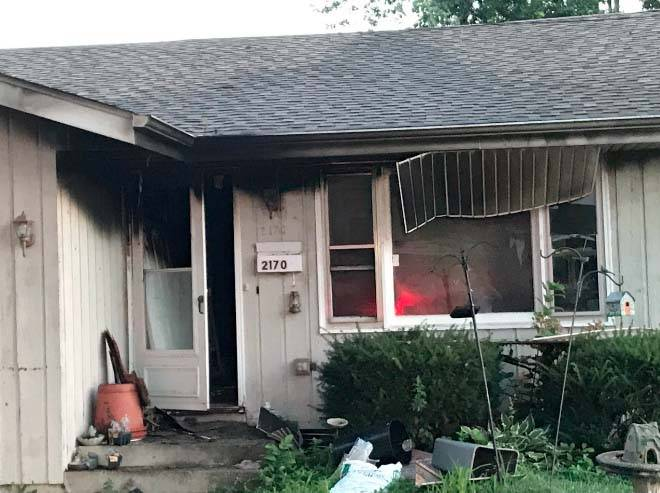 Paramedics treated one person on the scene of a Saturday morning fire in Elgin.