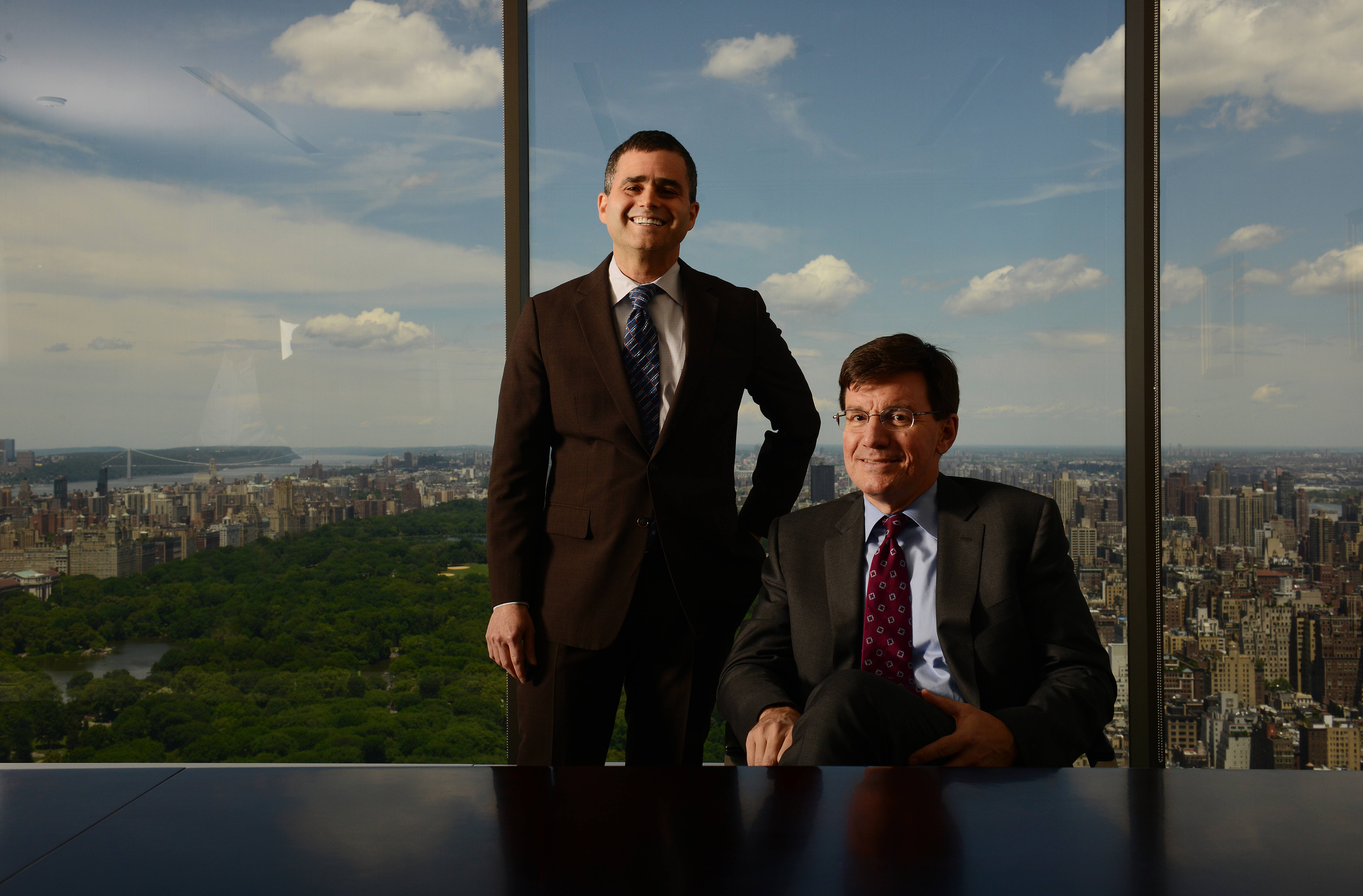 Ruane, Cunniff & Goldfarb's top-of-the-world offices overlook leafy Central Park. David Poppe, right, is CEO. Jonathan Brandt is the resident Berkshire Hathaway analyst and 25-year employee whose father worked at the firm. His father was an intimate of Warren Buffett's.
