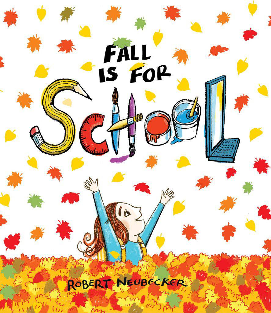 "Bright, bold, detail-laden drawings paired with singsong rhymes create a perfect ""turn-that-frown-upside down"" story in ""Fall is for School."""