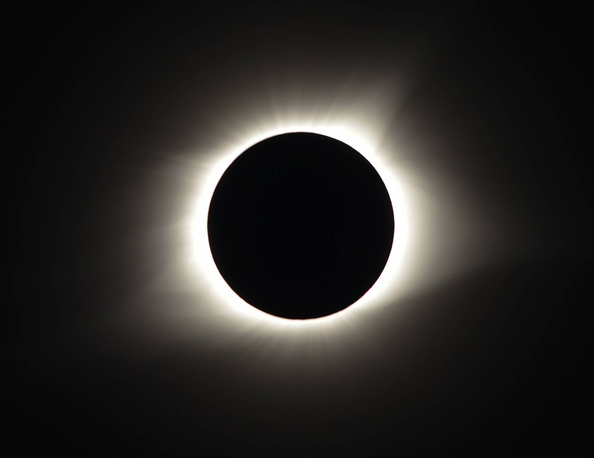 The total eclipse as seen in Chester, Illinois, on Monday.